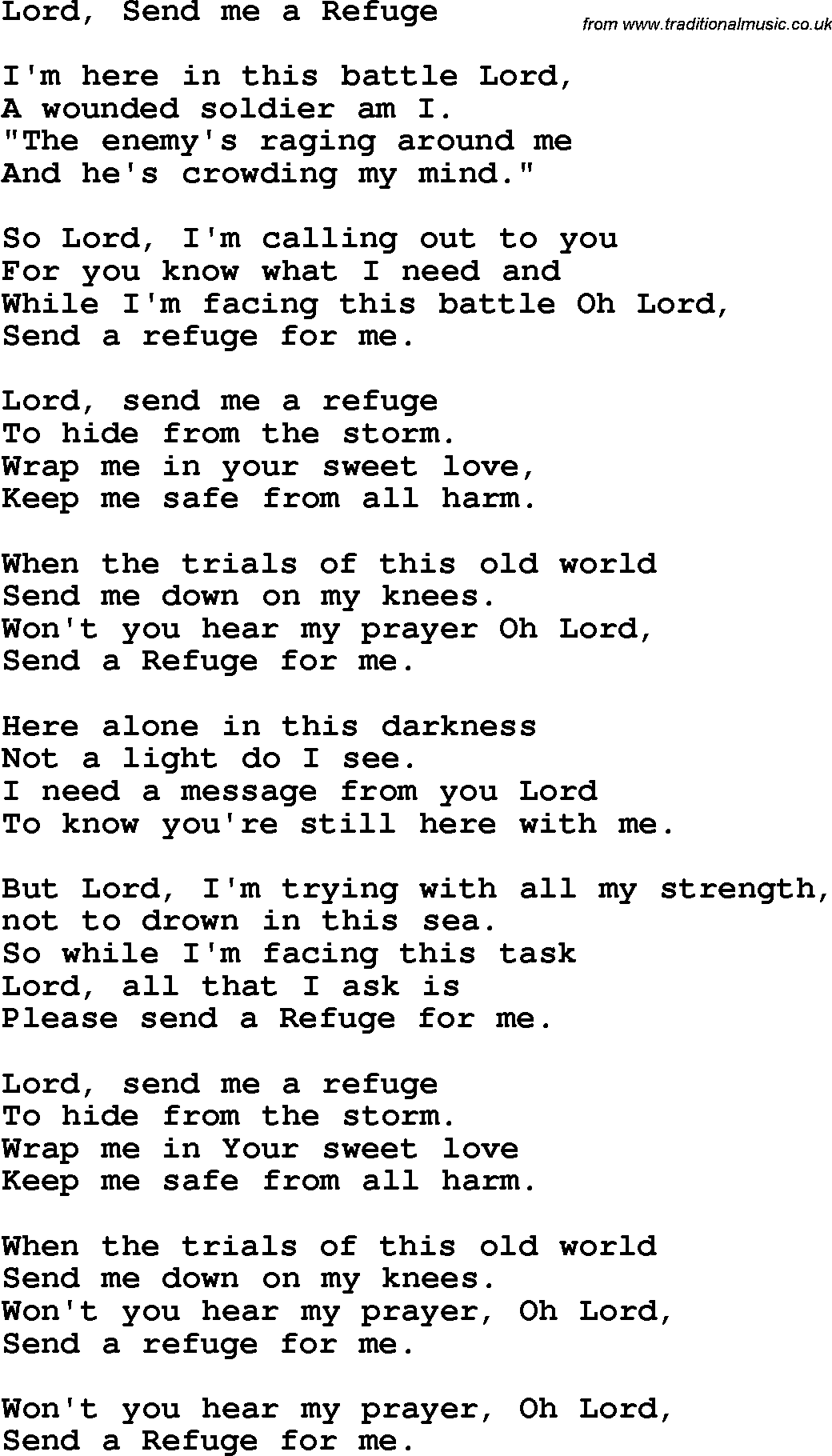 Lord move or me lyrics