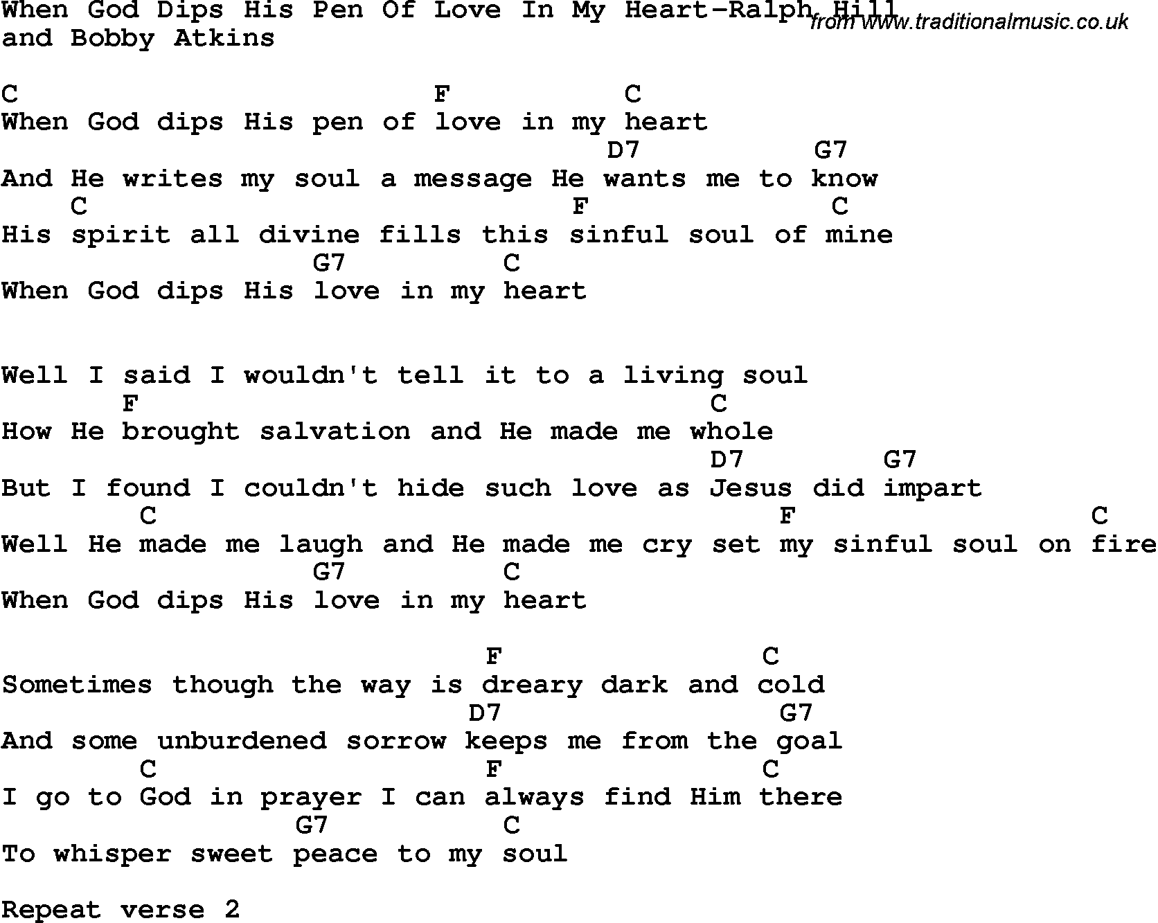Country southern and bluegrass gospel song when god dips his pen country southern and bluegrass gospel song when god dips his pen of love in my hexwebz Image collections