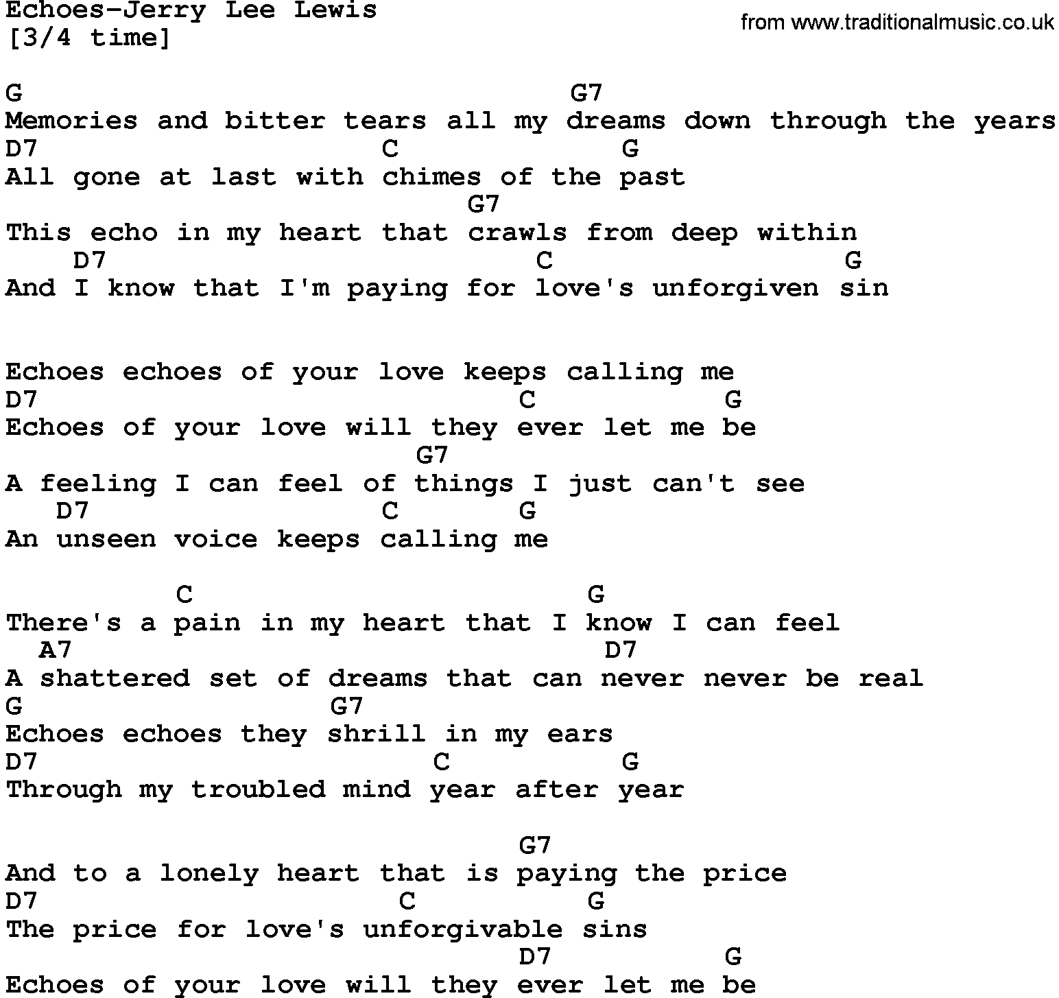 Country musicechoes jerry lee lewis lyrics and chords hexwebz Images