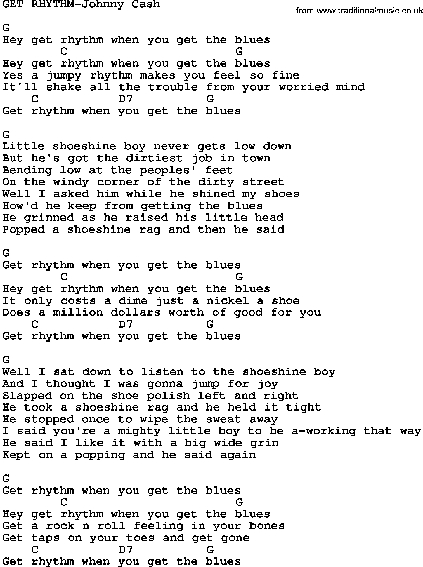 Country musicget rhythm johnny cash lyrics and chords hexwebz Image collections