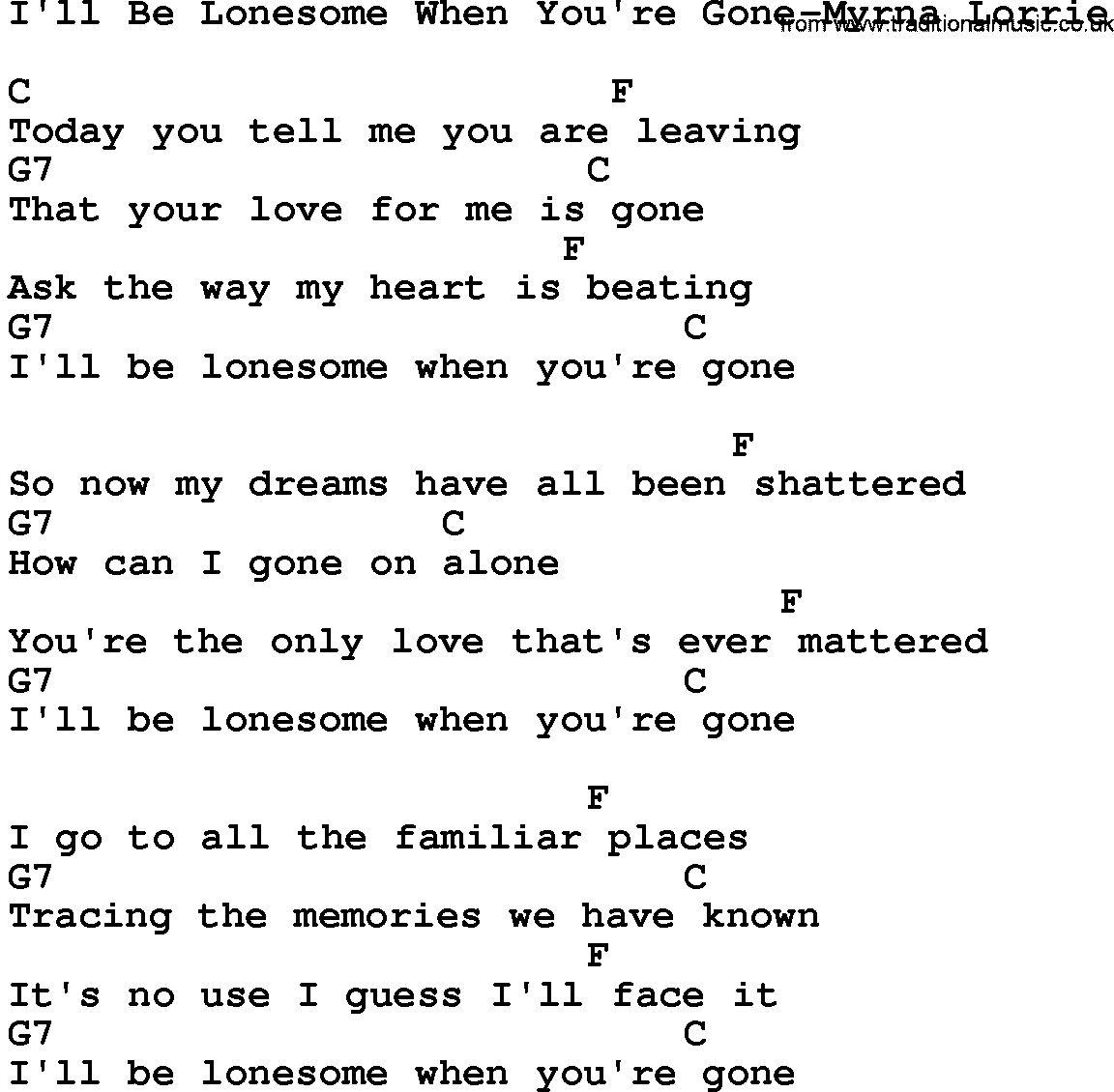 lyrics if you re gone