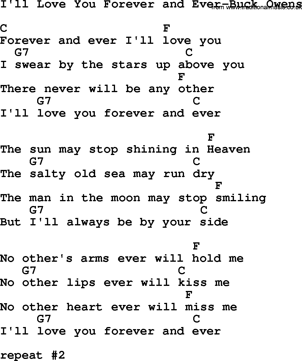 I will love you forever song