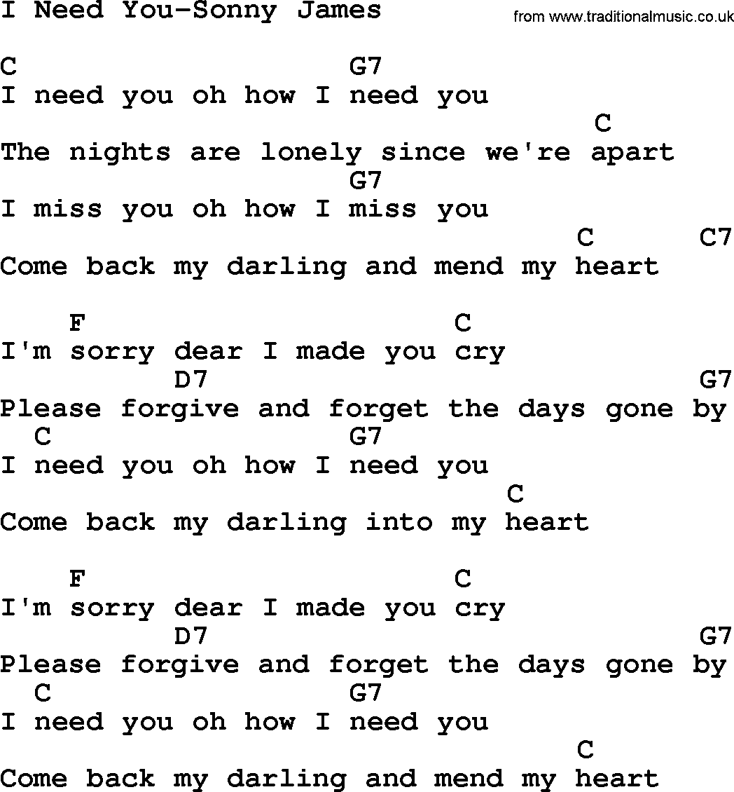 oh how i need you chords pdf