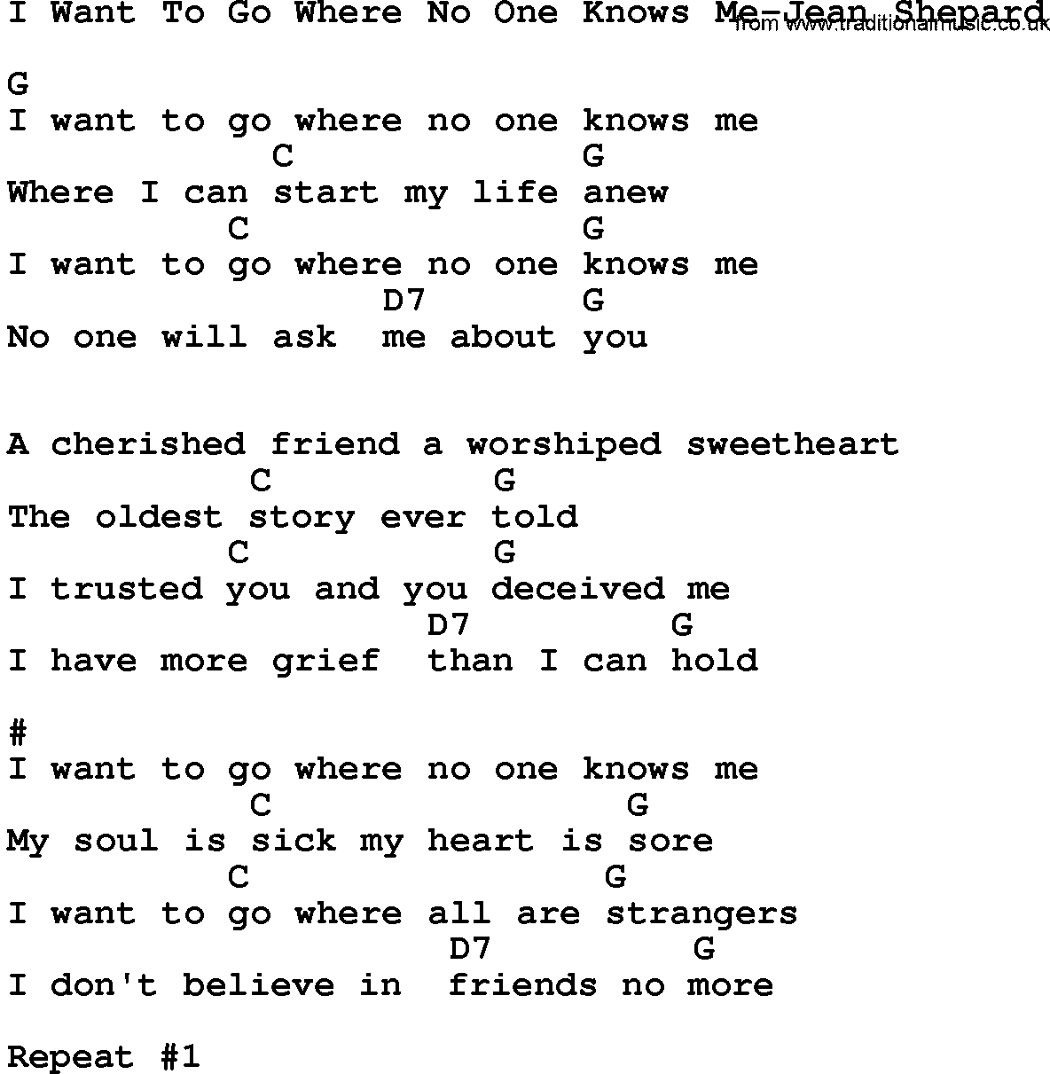 where no one goes lyrics