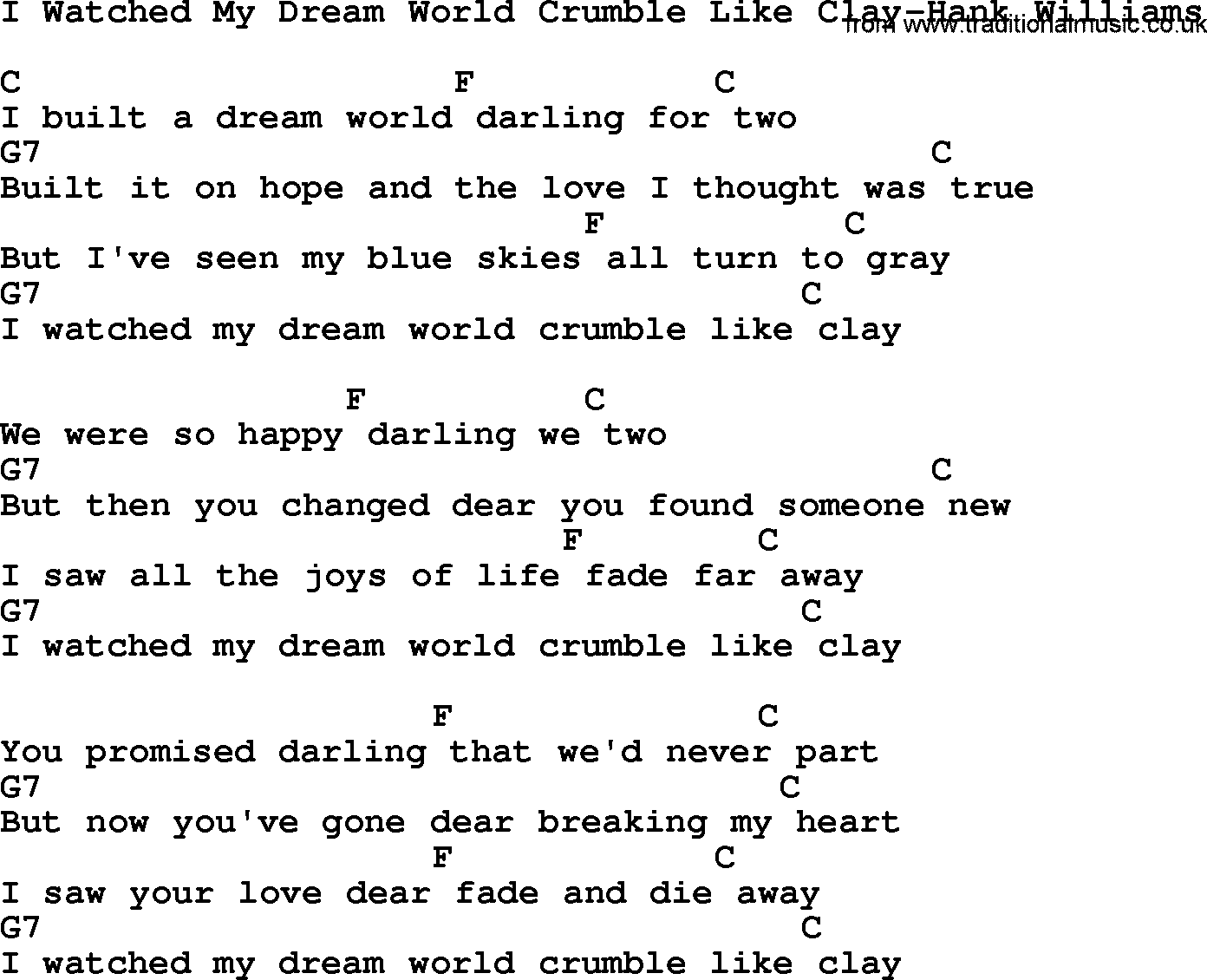 my dream lyrics: