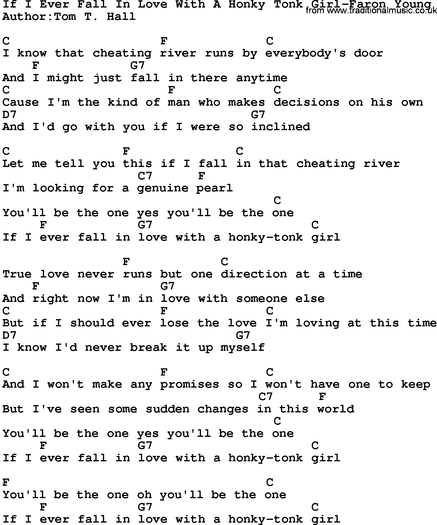 Ever fall in love with someone lyrics