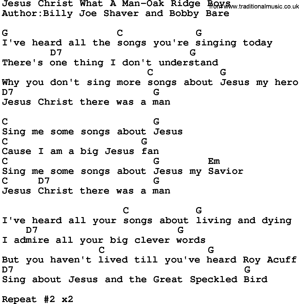 Country Music Country Music Jesus Chords