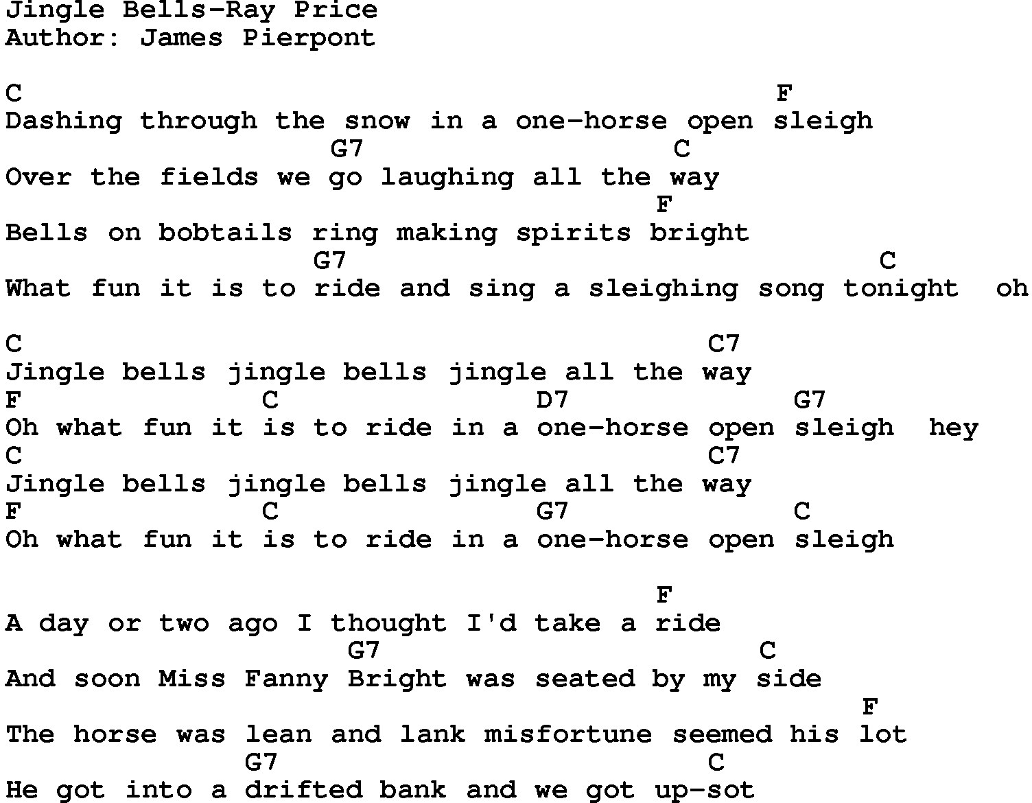 photograph about Jingle Bells Lyrics Printable called Region Audio:Jingle Bells-Ray Value Lyrics and Chords