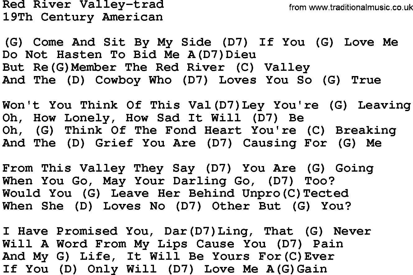 Attractive Red River Valley Guitar Chords Photo Beginner Guitar