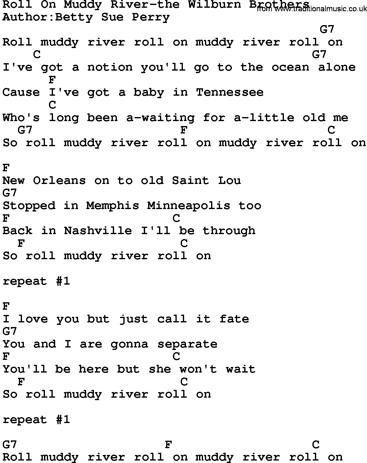 Kingston Trio - Rolling River Lyrics | MetroLyrics
