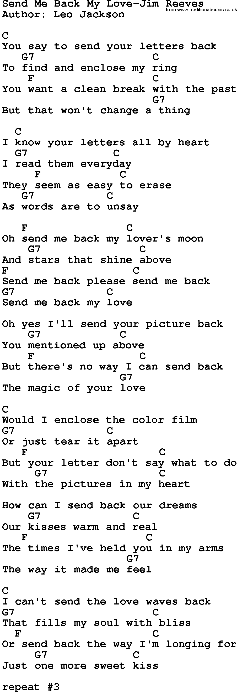 send your love to me lyrics