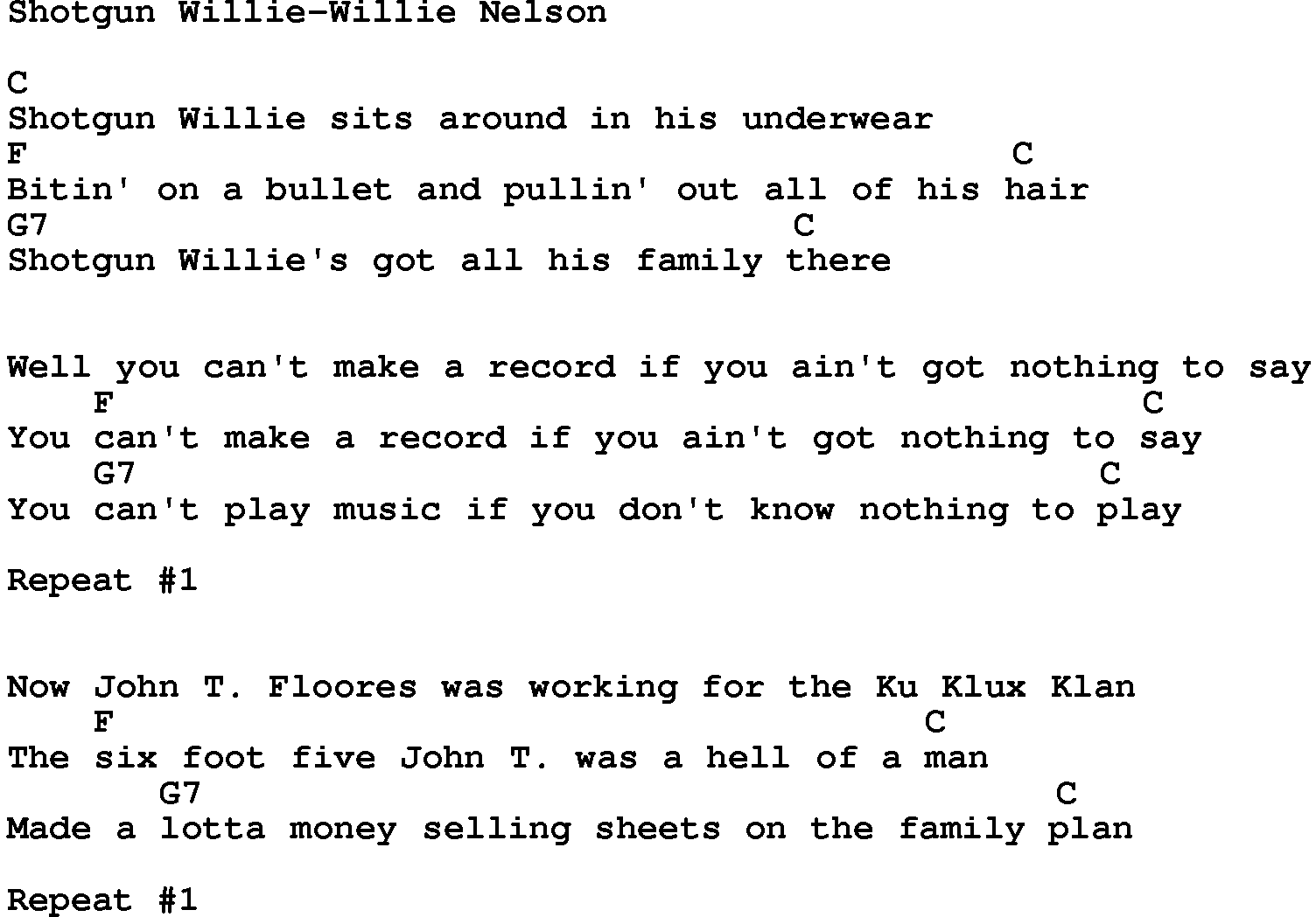 from Jaxson gay lyric nelson song willie