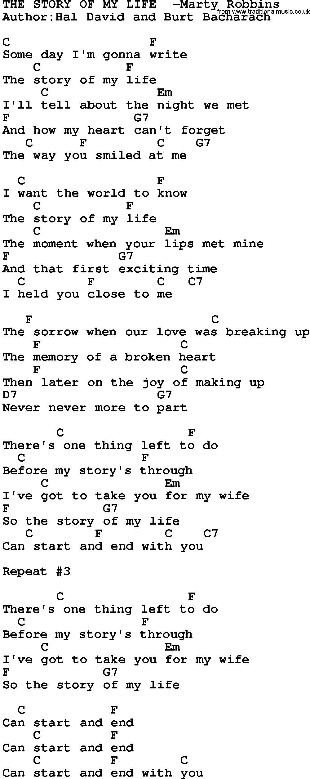 The story guitar chords