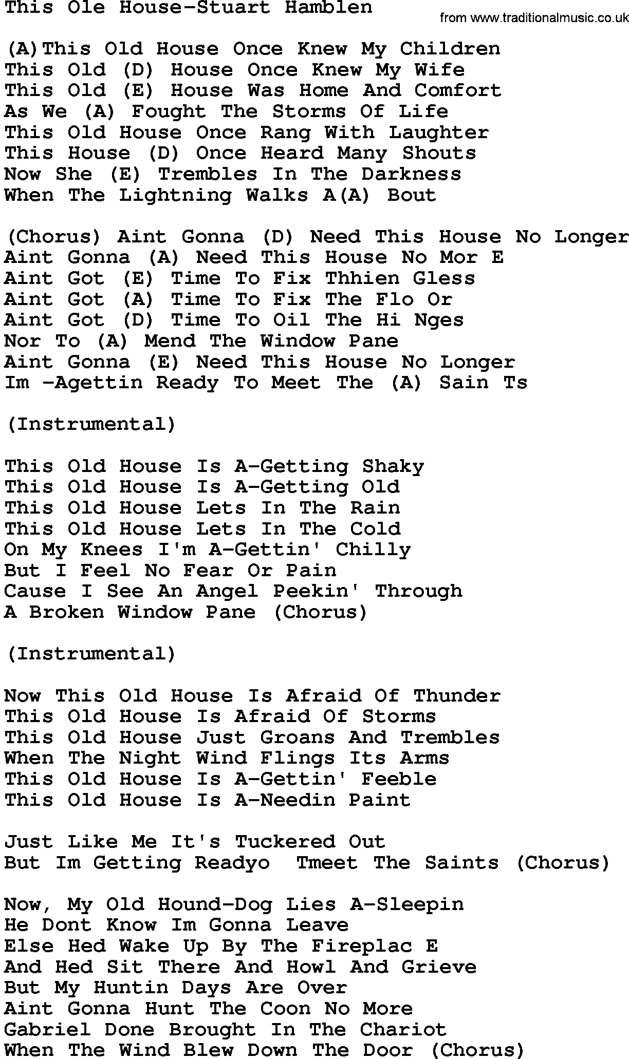 This house song 28 images country southern and for Classic house chords