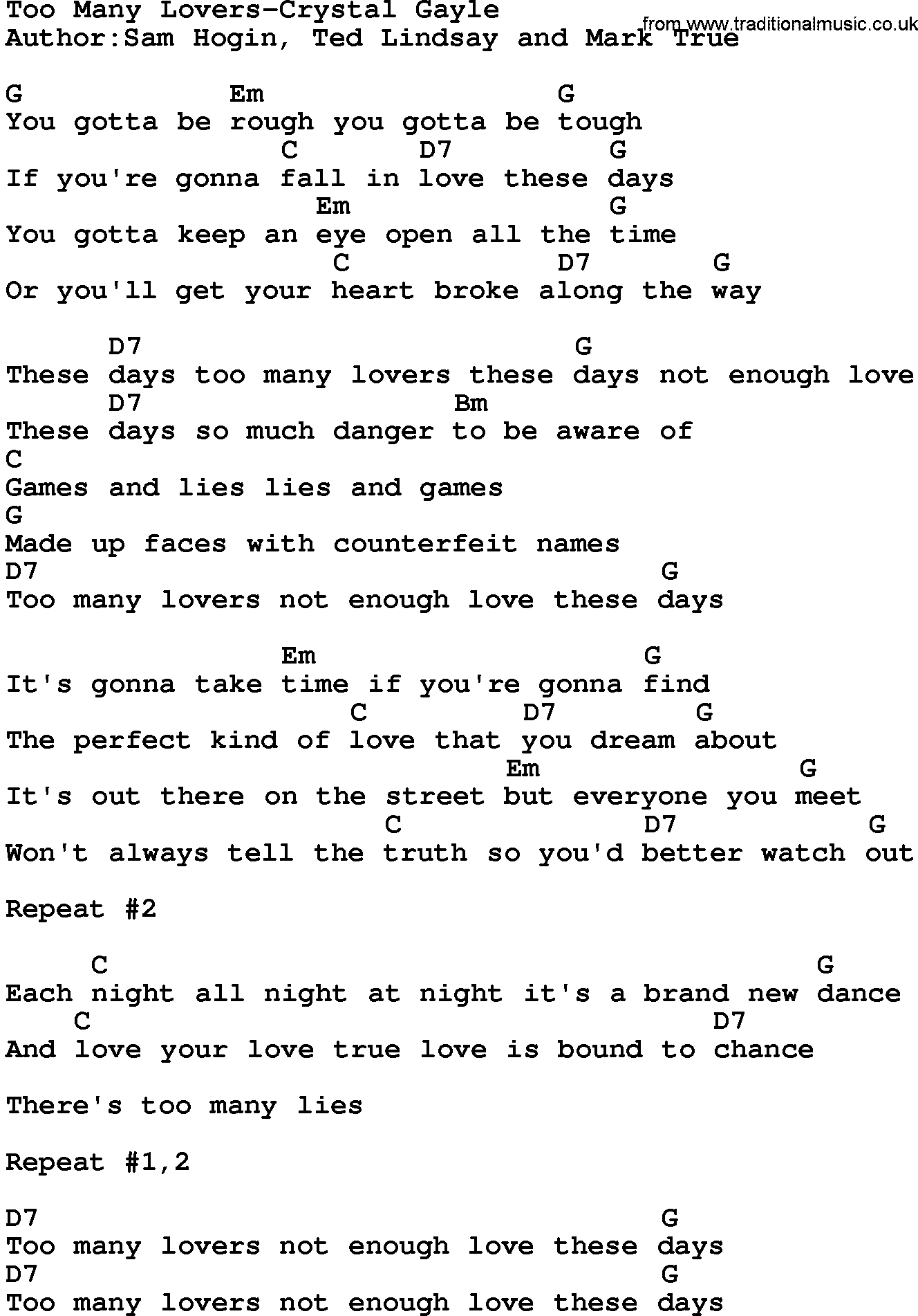 Country Music Lover Country Music Song Too Many