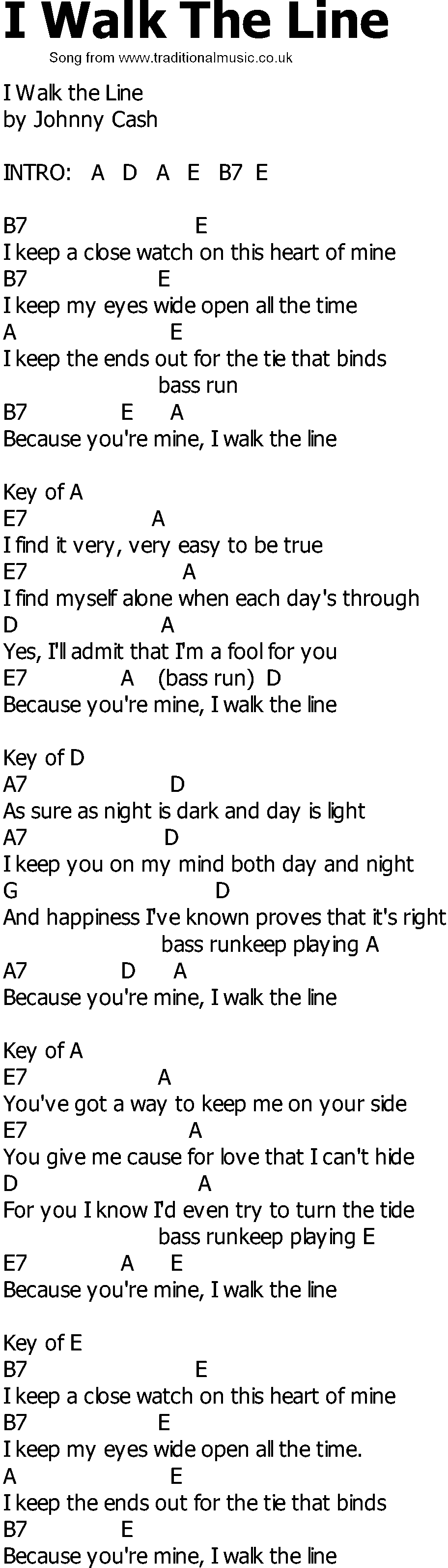 Old Country Song Lyrics With Chords