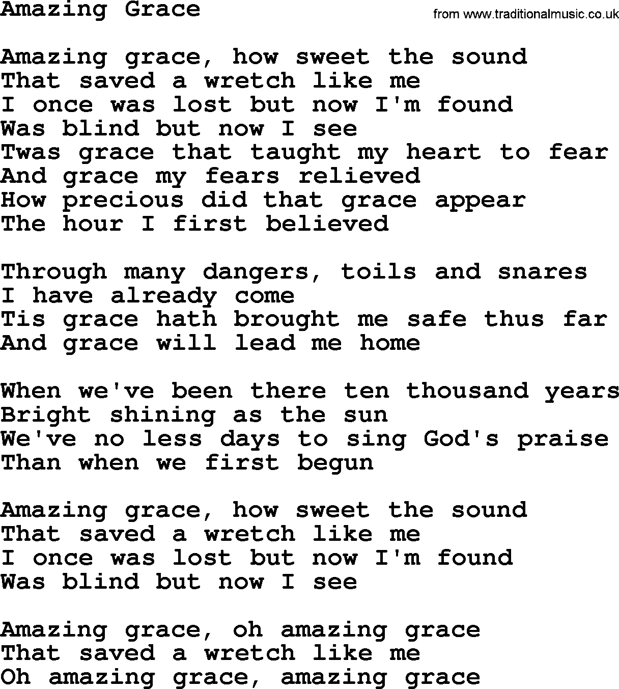 Amazing Grace Free Piano Sheet Music With Lyrics: [組圖+影片] 的最新詳盡資料** (必看!!) - Www.go2tutor.com