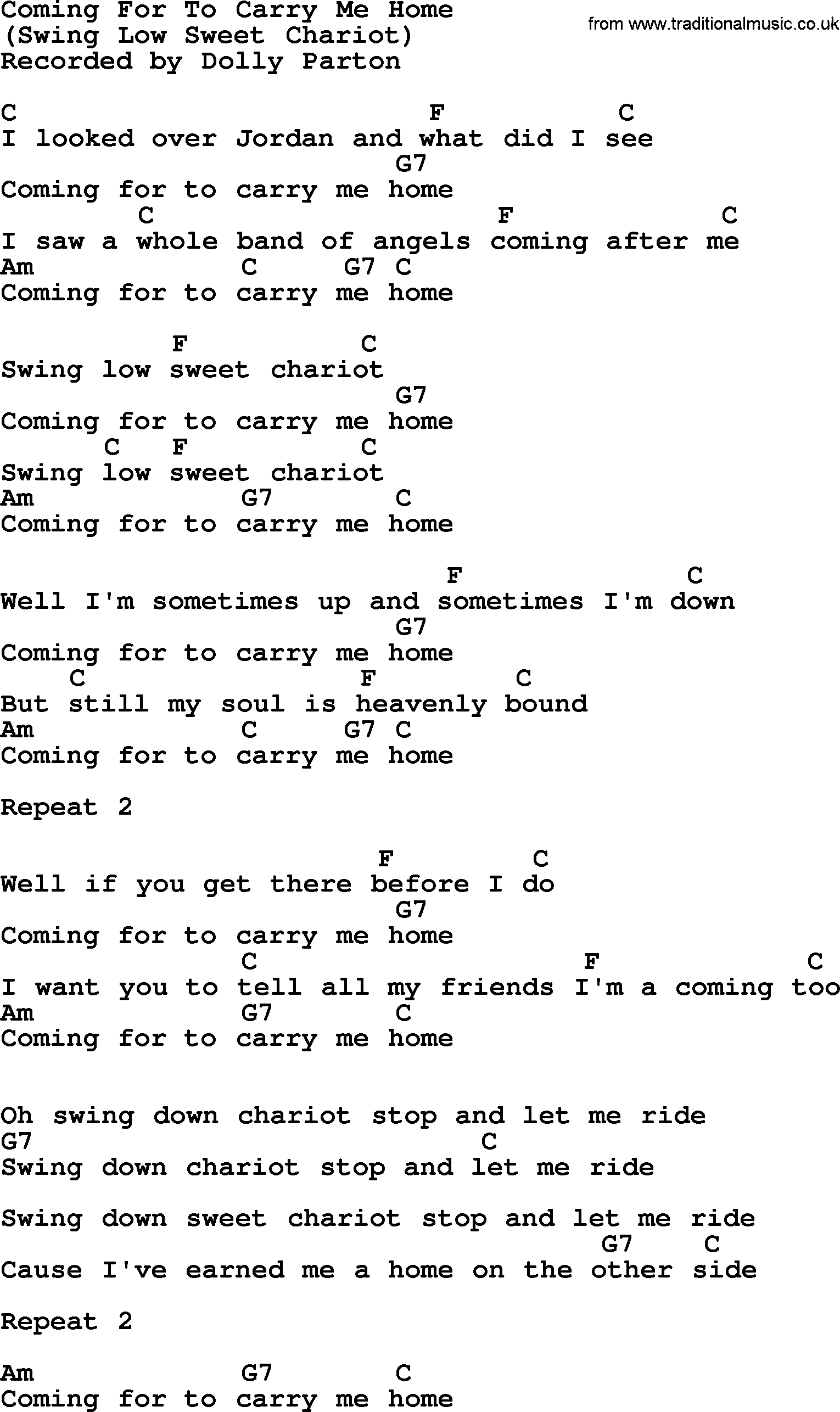Carry me home song lyrics