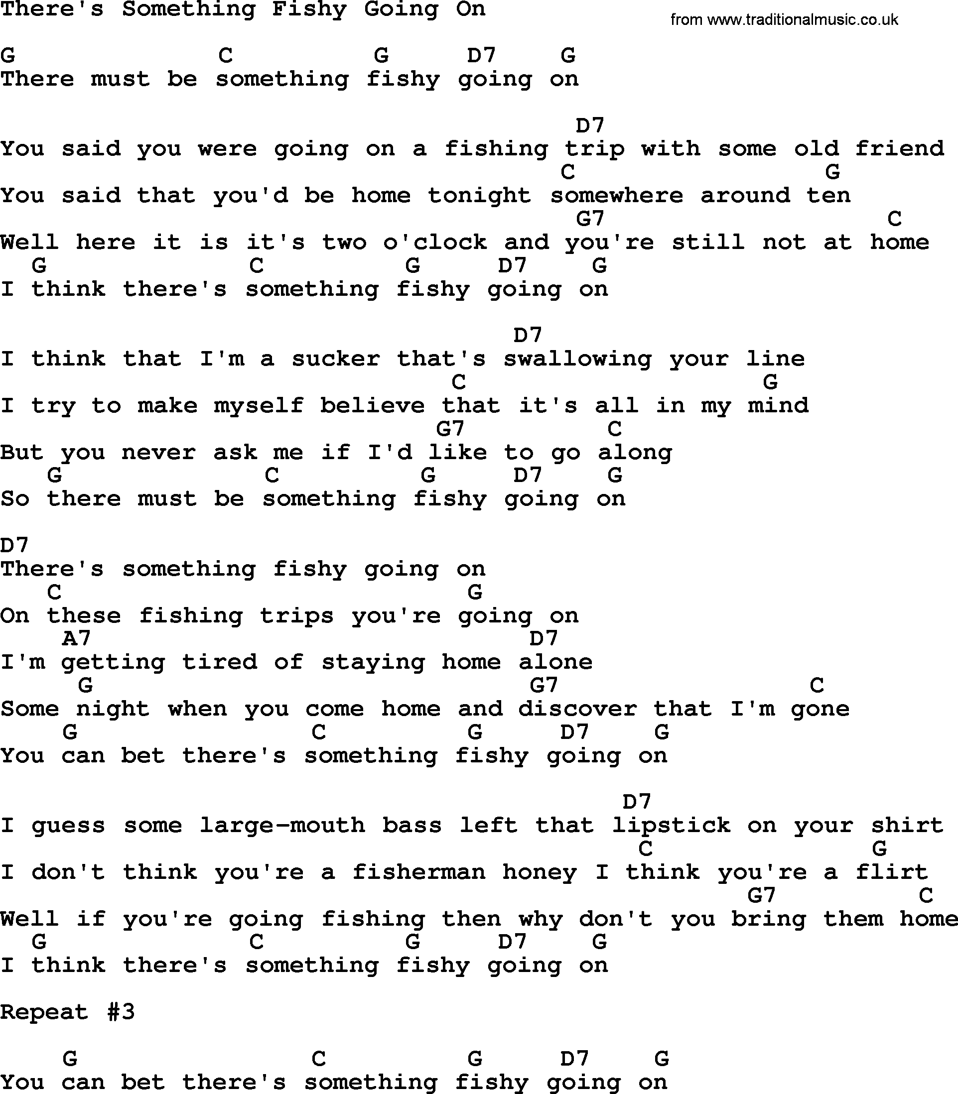 Dolly Parton Song There S Something Fishy Going On Lyrics And Chords