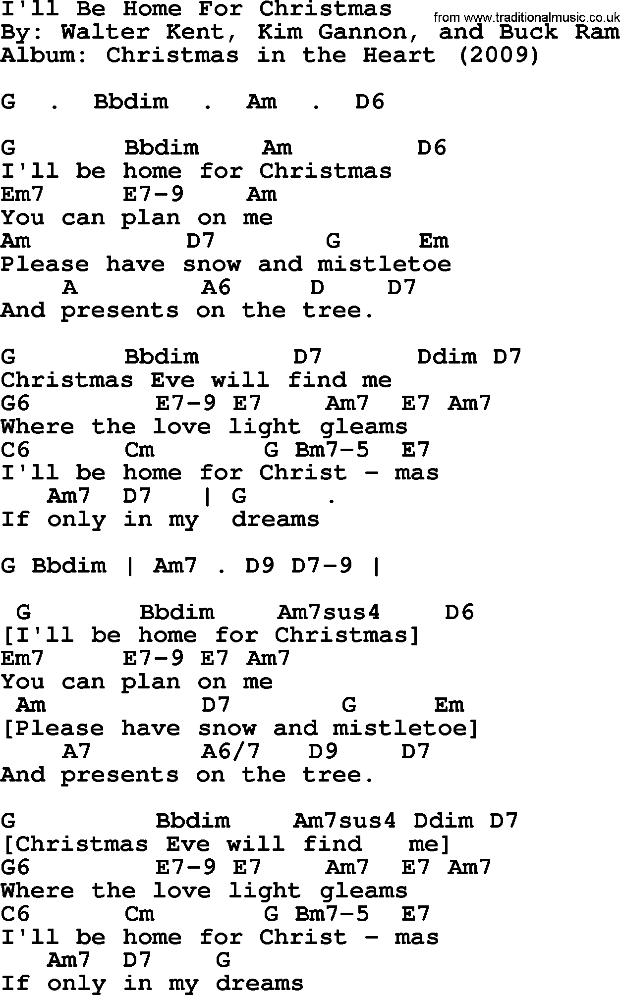Ill Be Home For Christmas Chords.Bob Dylan Song I Ll Be Home For Christmas Lyrics And Chords