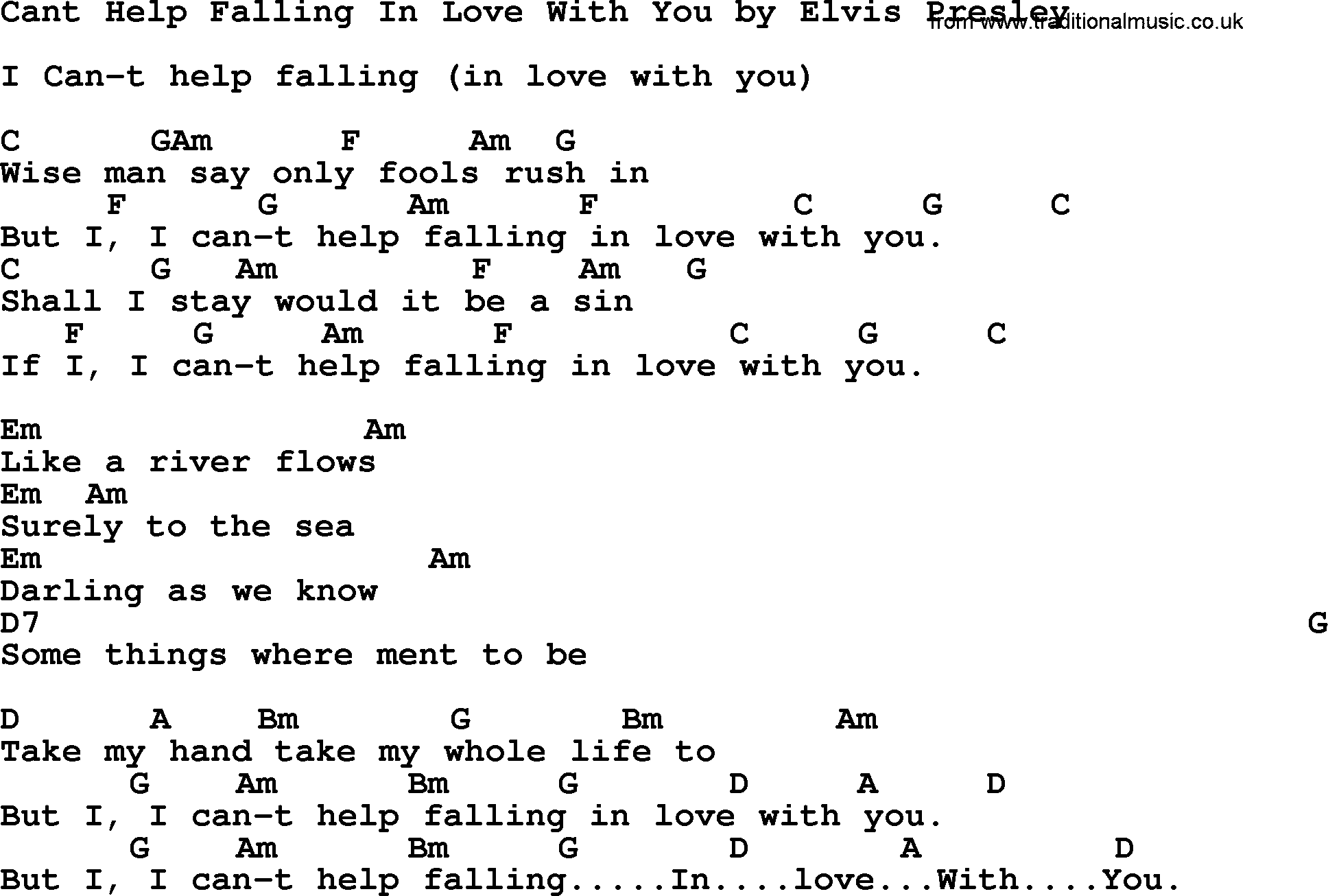 A-Teens - Cant Help Falling In Love Lyrics LetsSingIt