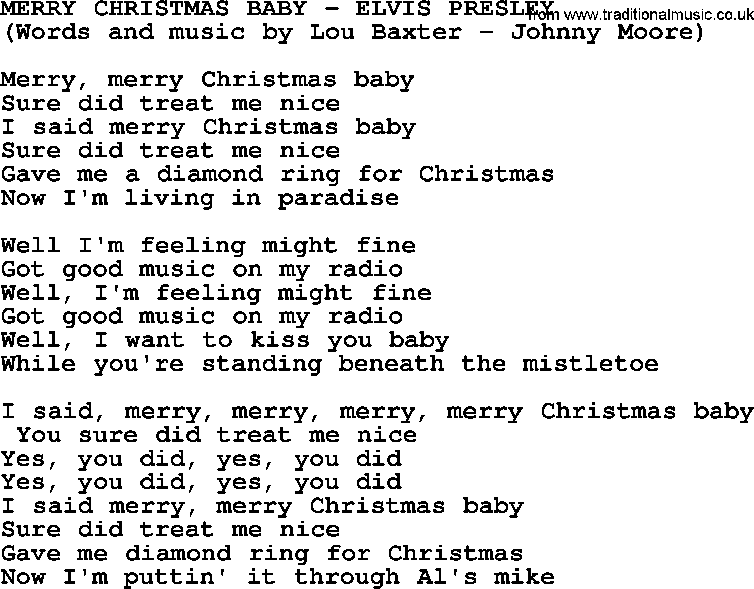 Melissa Etheridge - Merry Christmas Baby Lyrics | MetroLyrics