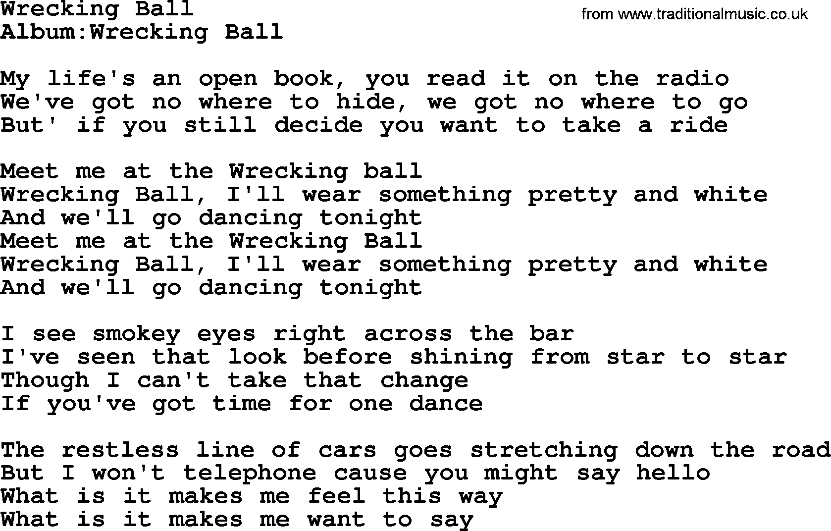 Miley Cyrus - Wrecking Ball - Directlyrics