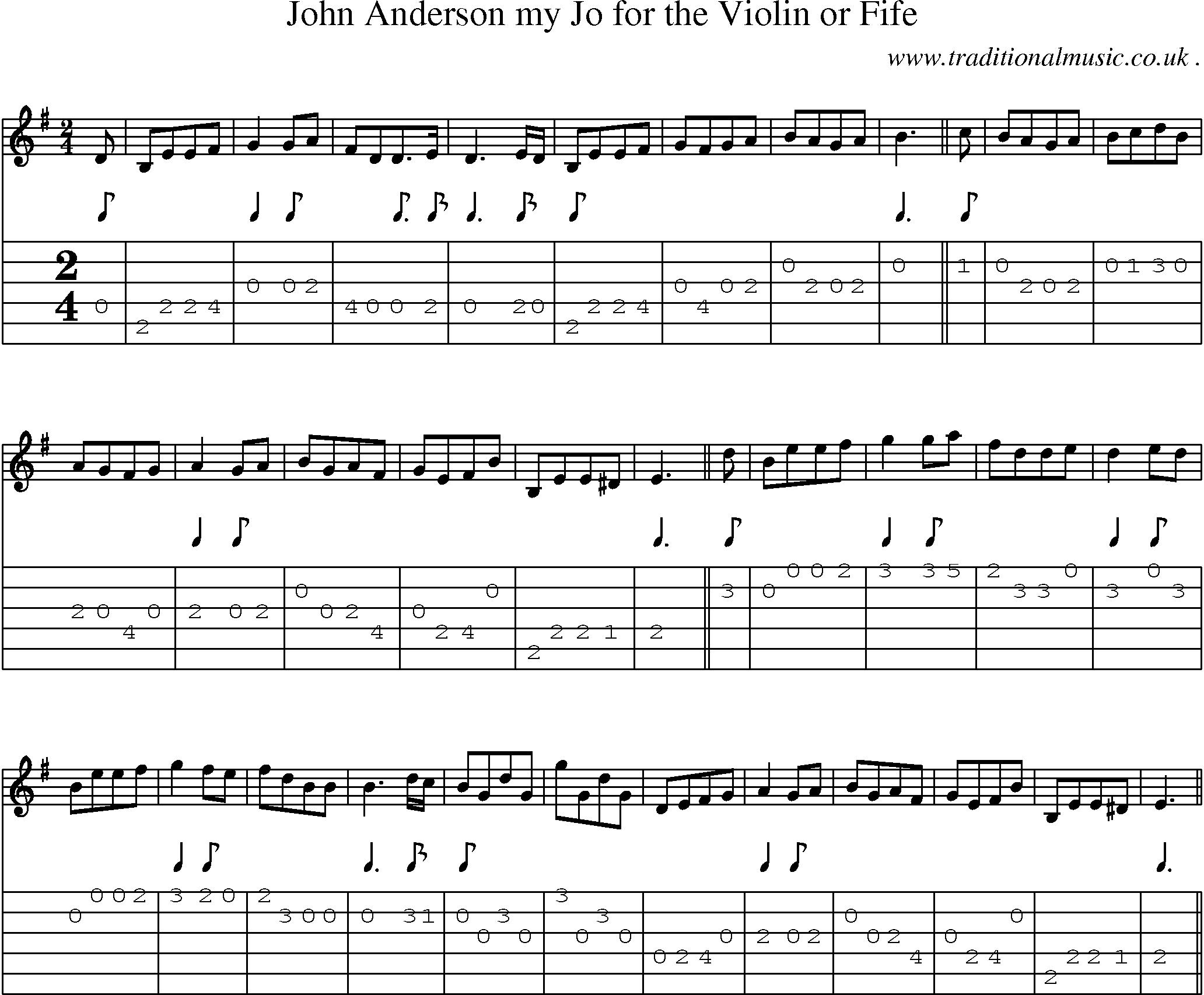 Folk and Traditional Music, Sheet-Music, Guitar tab, mp3 audio, midi and PDF for: John Anderson ...
