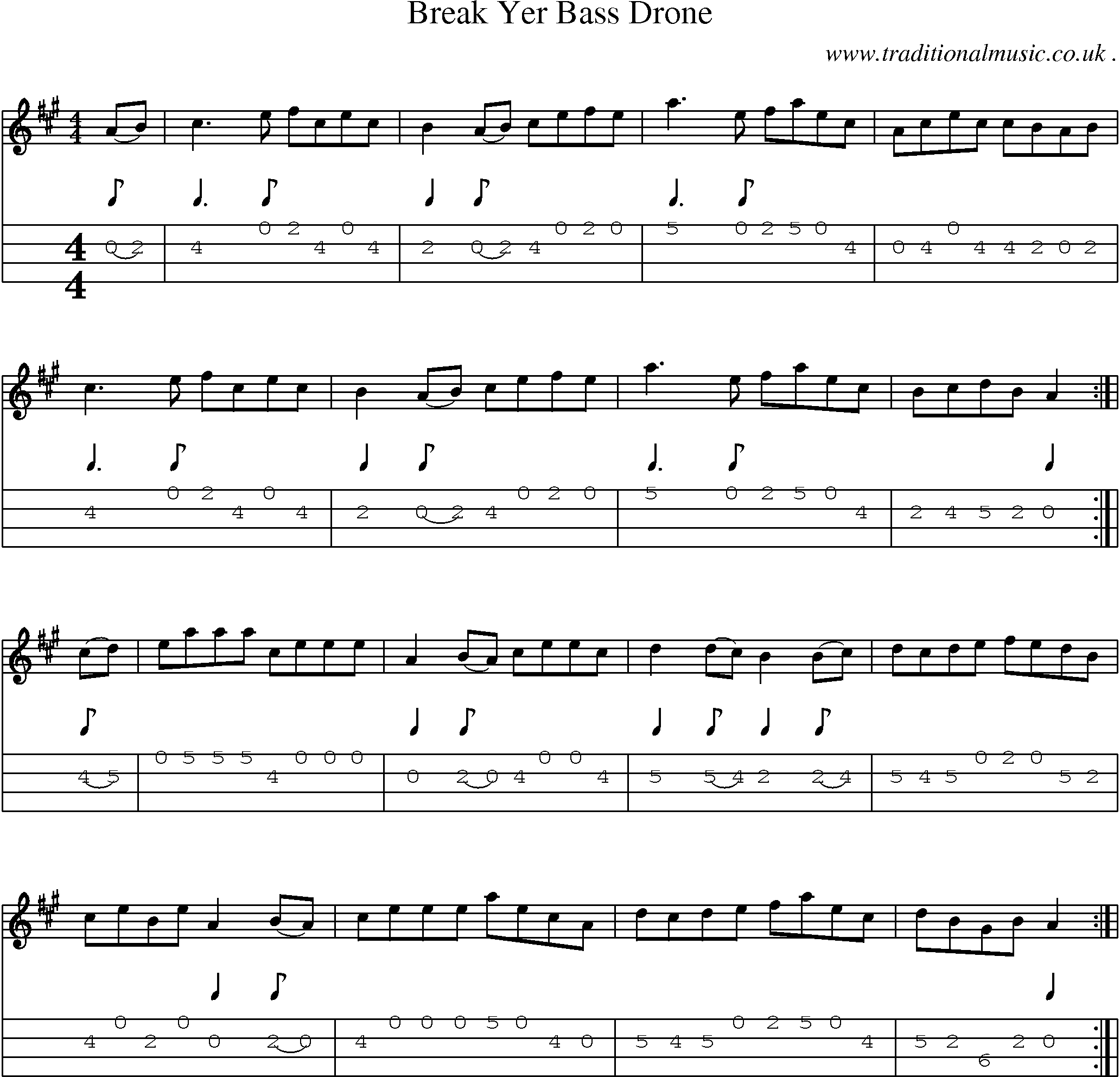 Mandolin tabs rock