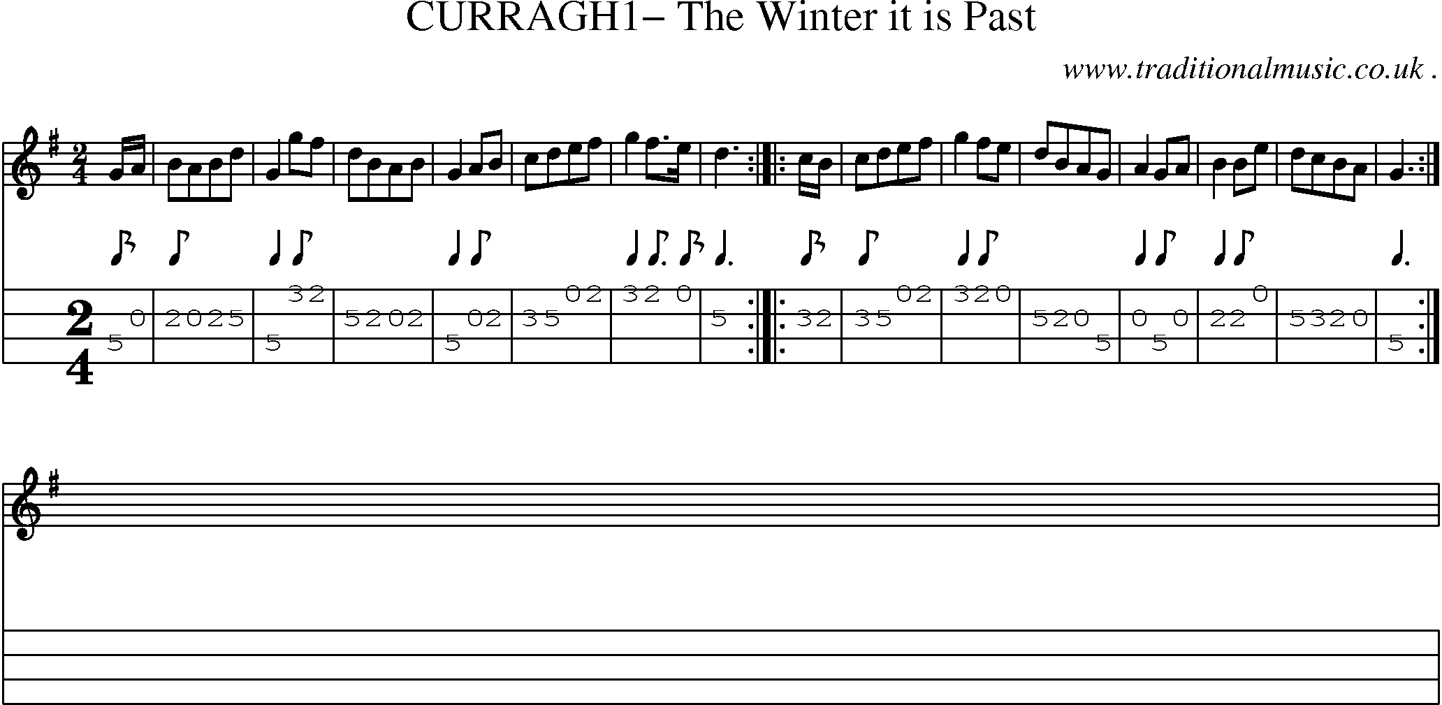 Folk and Traditional Music, Sheet-Music, Mandolin tab, midi, mp3 and PDF for: Curragh1 The ...