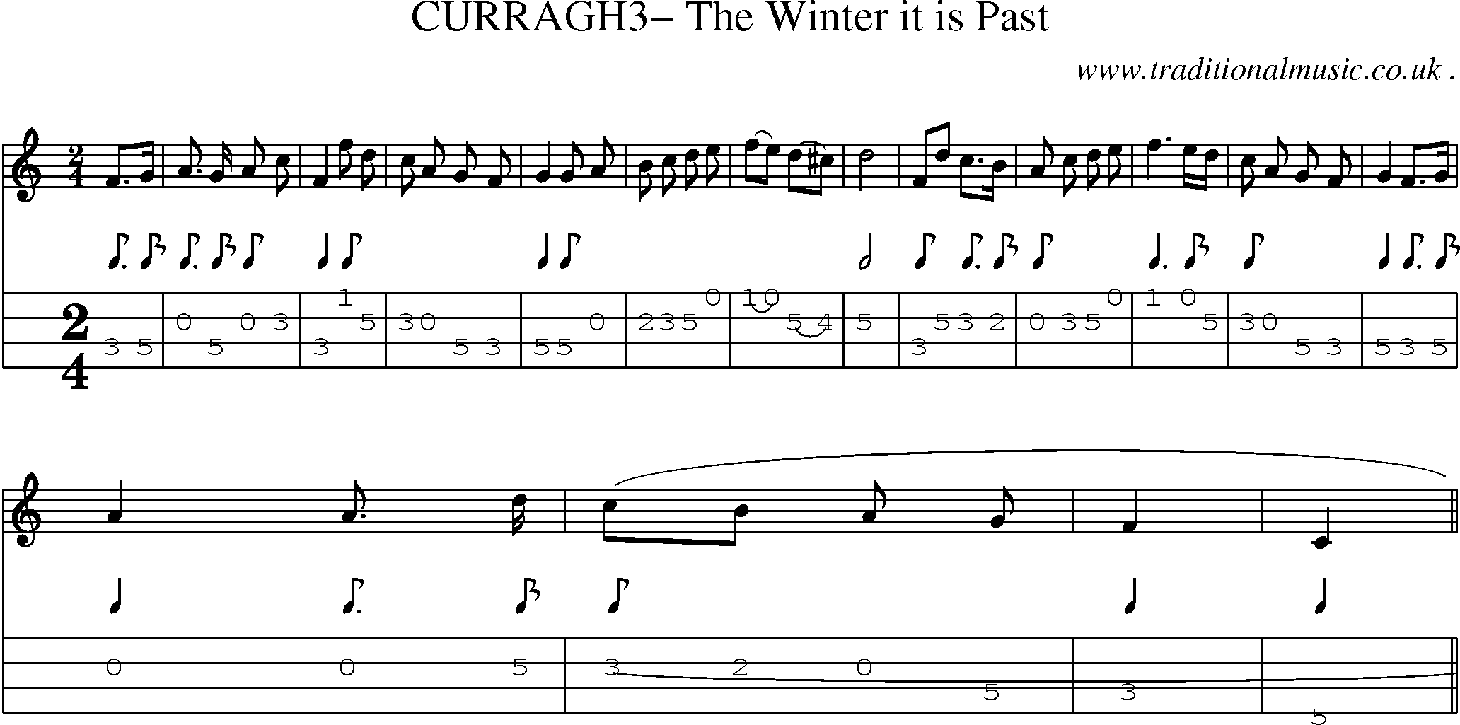 Folk and Traditional Music, Sheet-Music, Mandolin tab, midi, mp3 and PDF for: Curragh3 The ...
