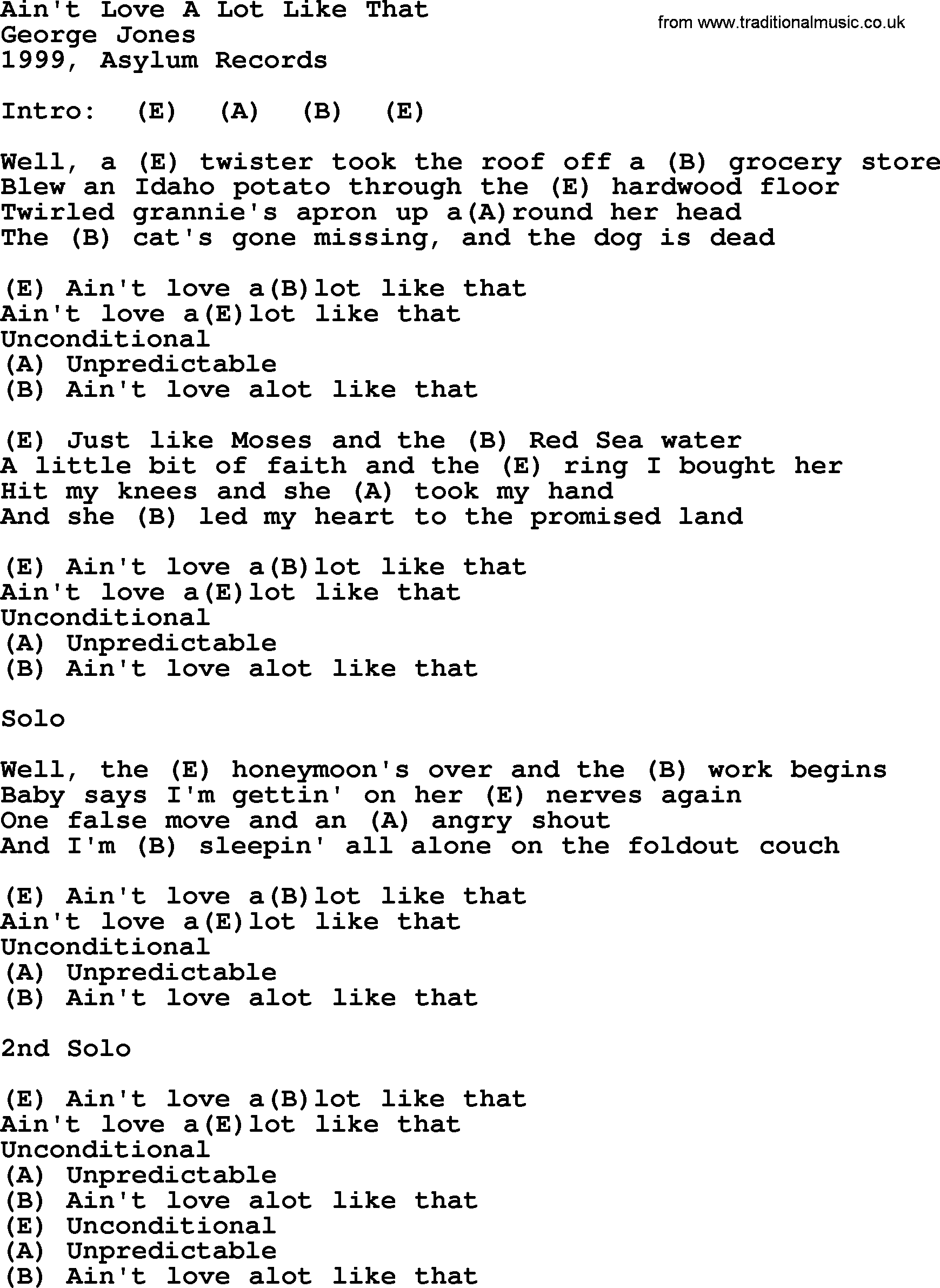 Eli Young Band - A Lot Like Love Lyrics - lyricsera.com