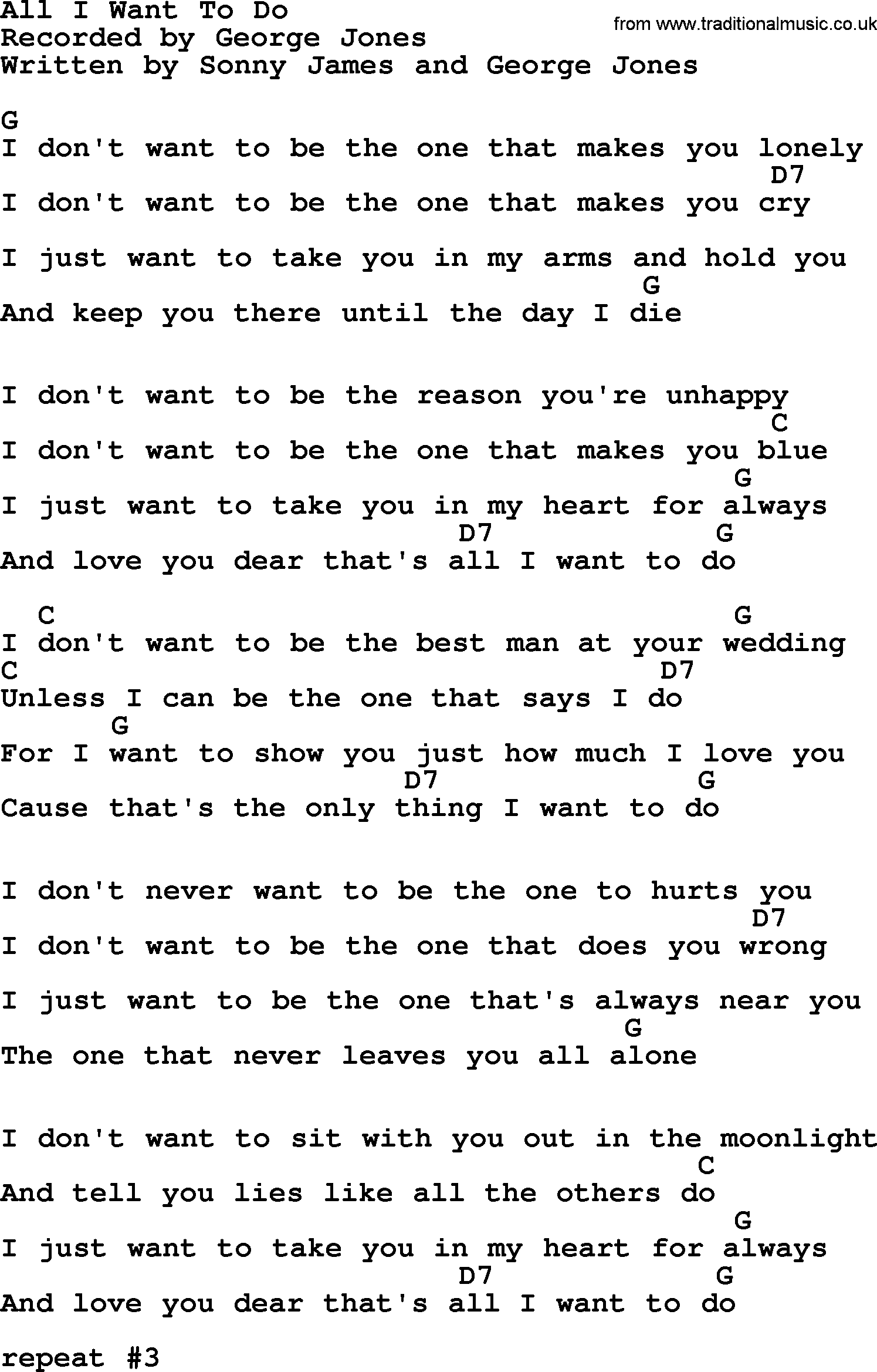 UB40 - ALL I WANT TO DO LYRICS - SongLyrics.com
