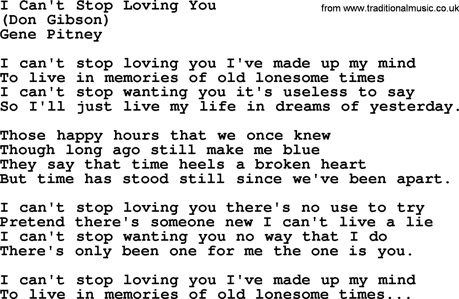 cant stop lyrics