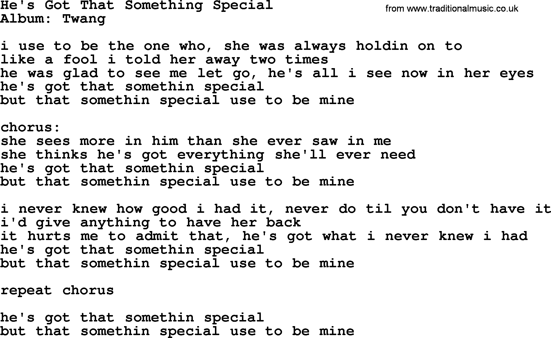 you are something special lyrics