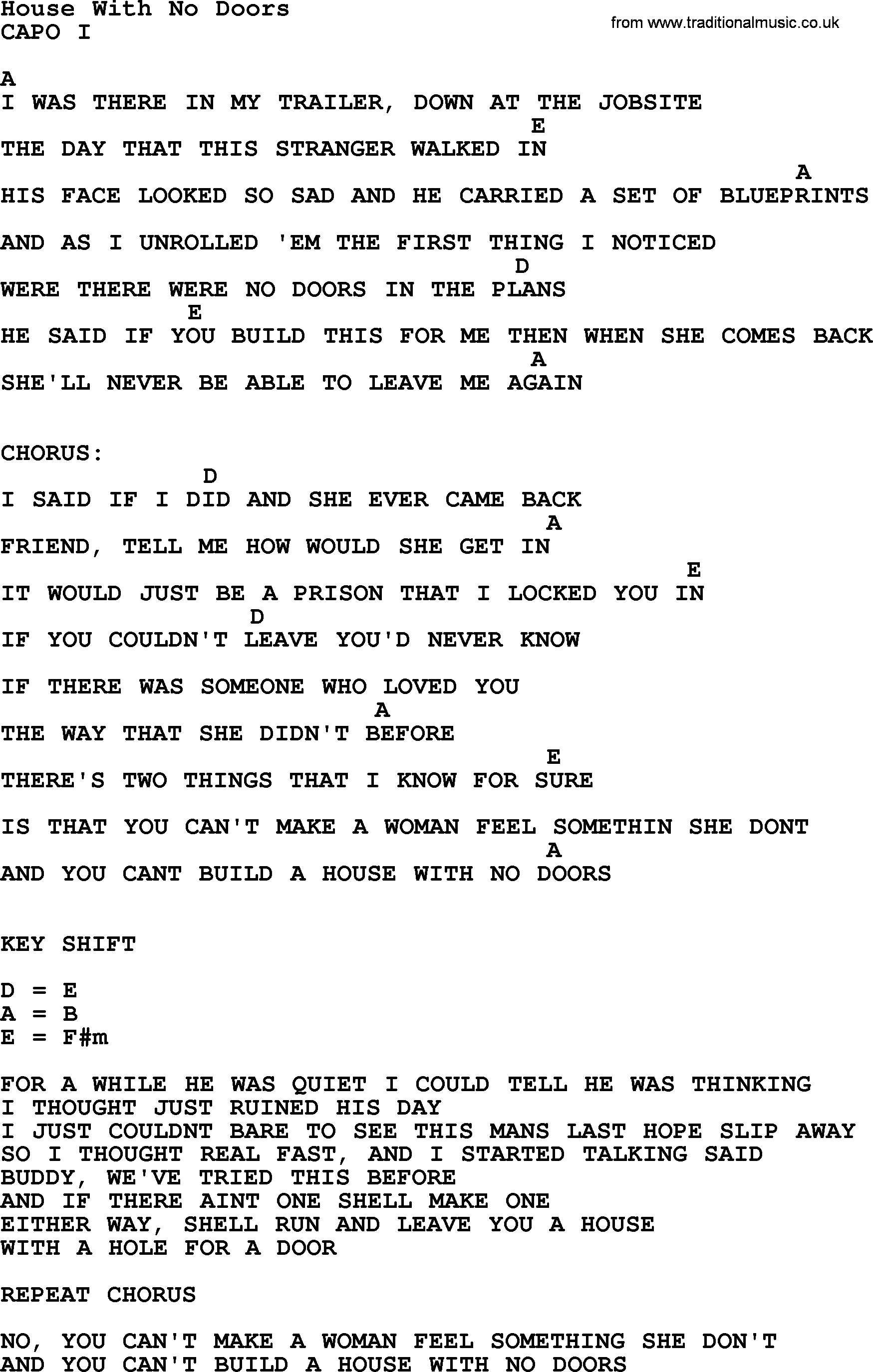 House with no doors by george strait lyrics and chords george strait song house with no doors lyrics and chords malvernweather Image collections