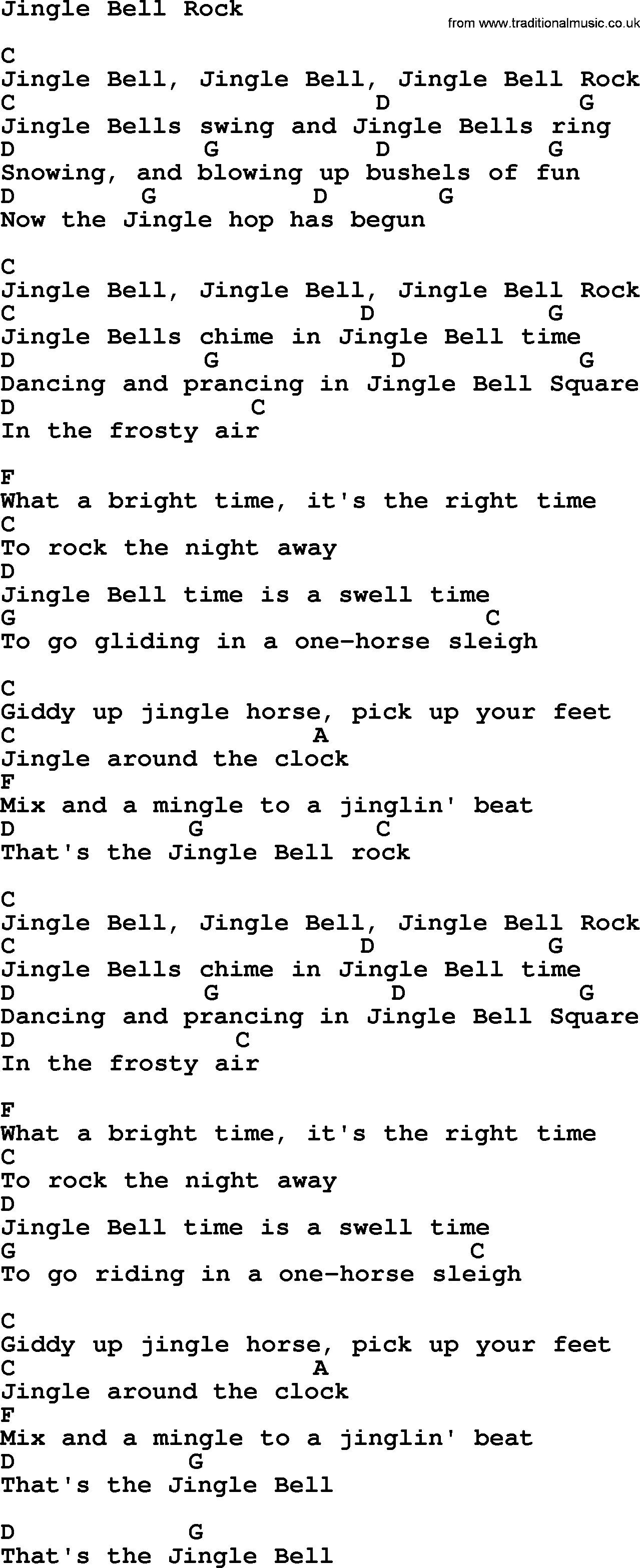 Weihnachtslieder Rock.Jingle Bell Rock By George Strait Lyrics And Chords