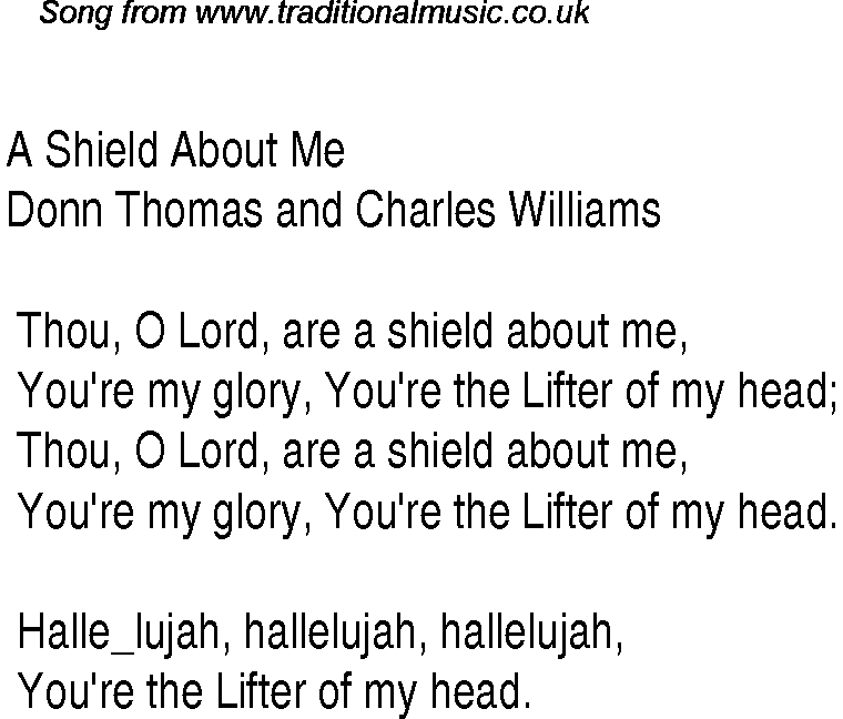 A Shield About Me Christian Gospel Song Lyrics And Chords