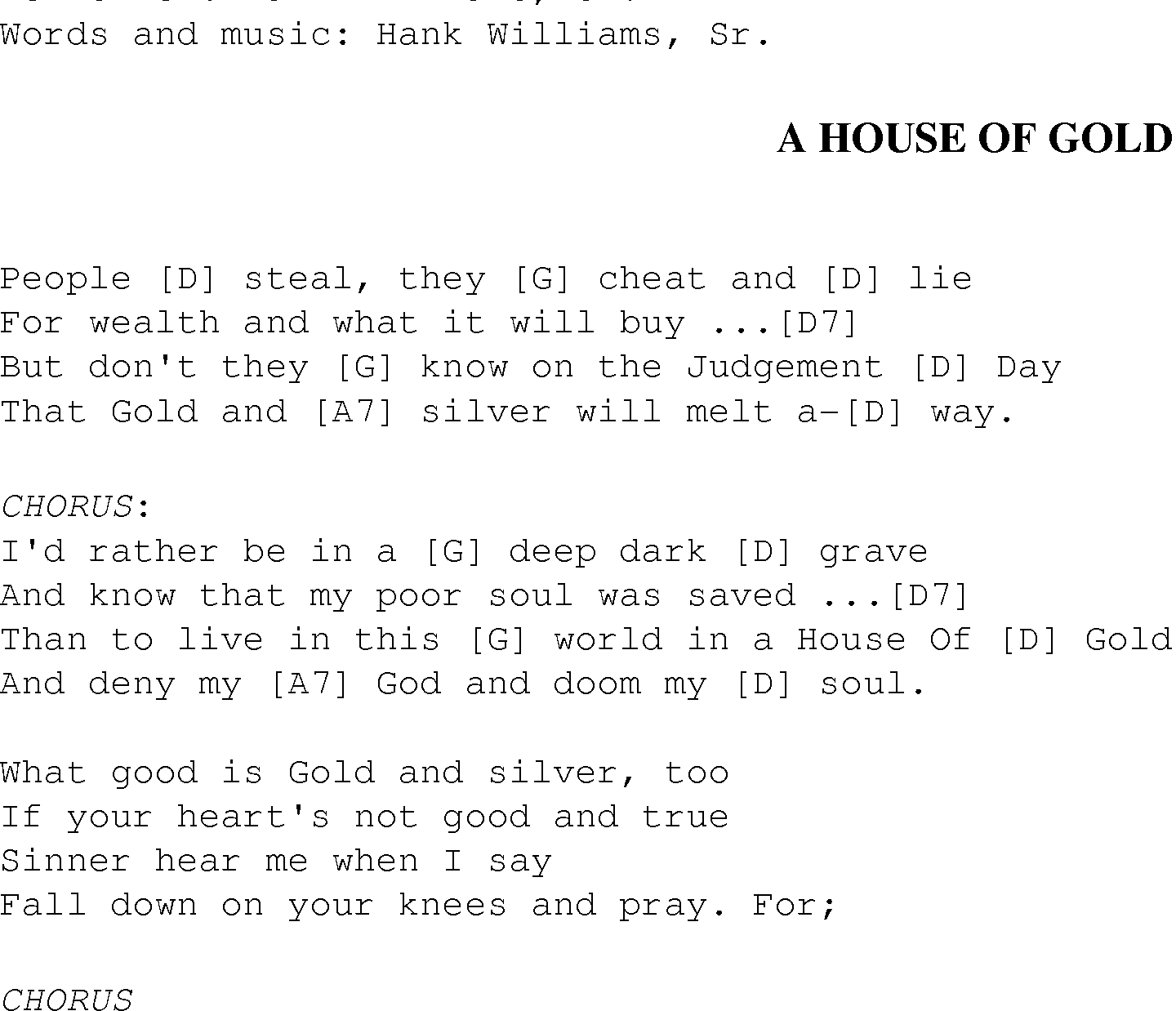 A house of gold christian gospel song lyrics and chords gospel song ahouseofgold lyrics and chords hexwebz Gallery