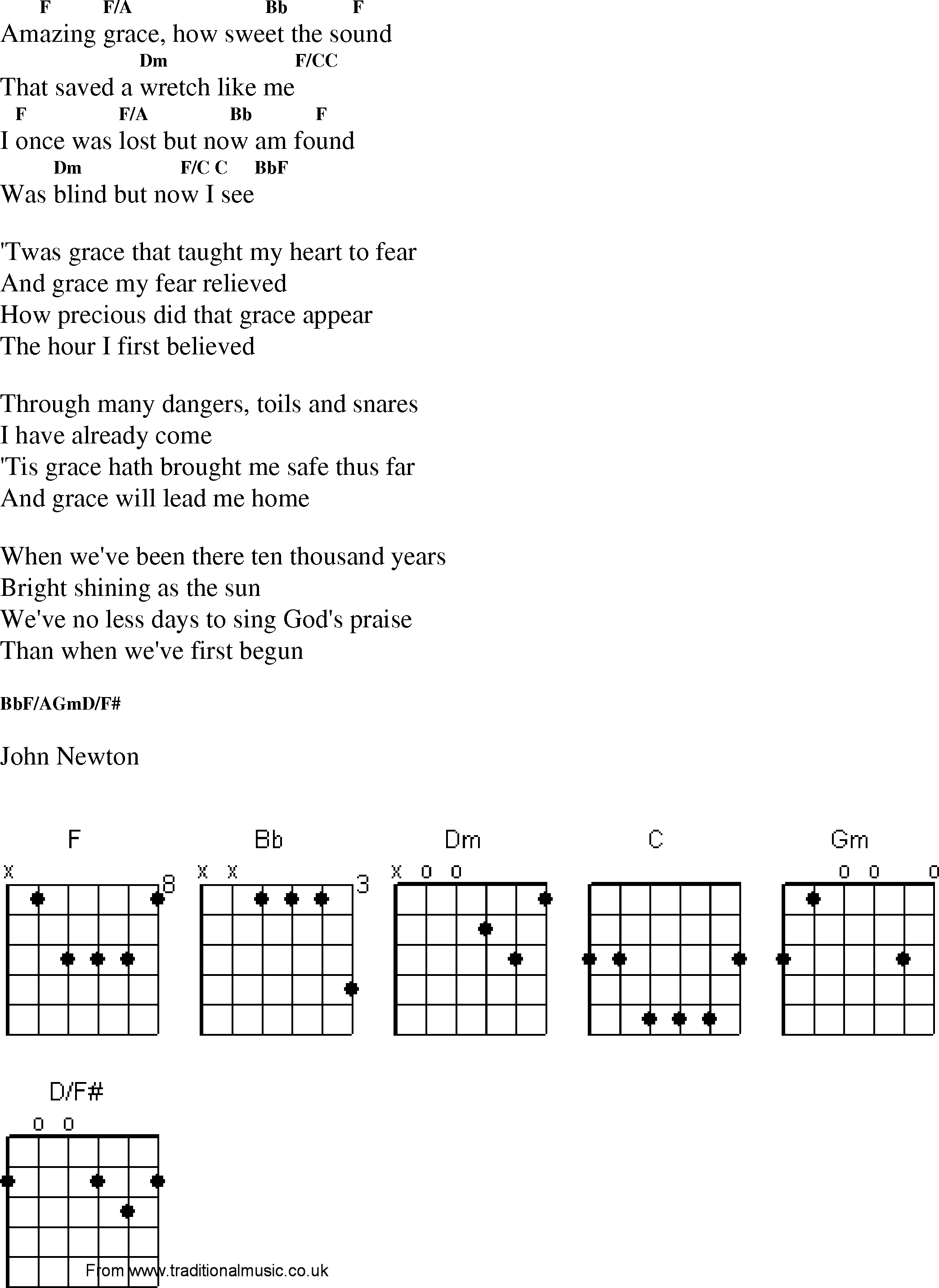 Amazing Grace Mandolin Chords