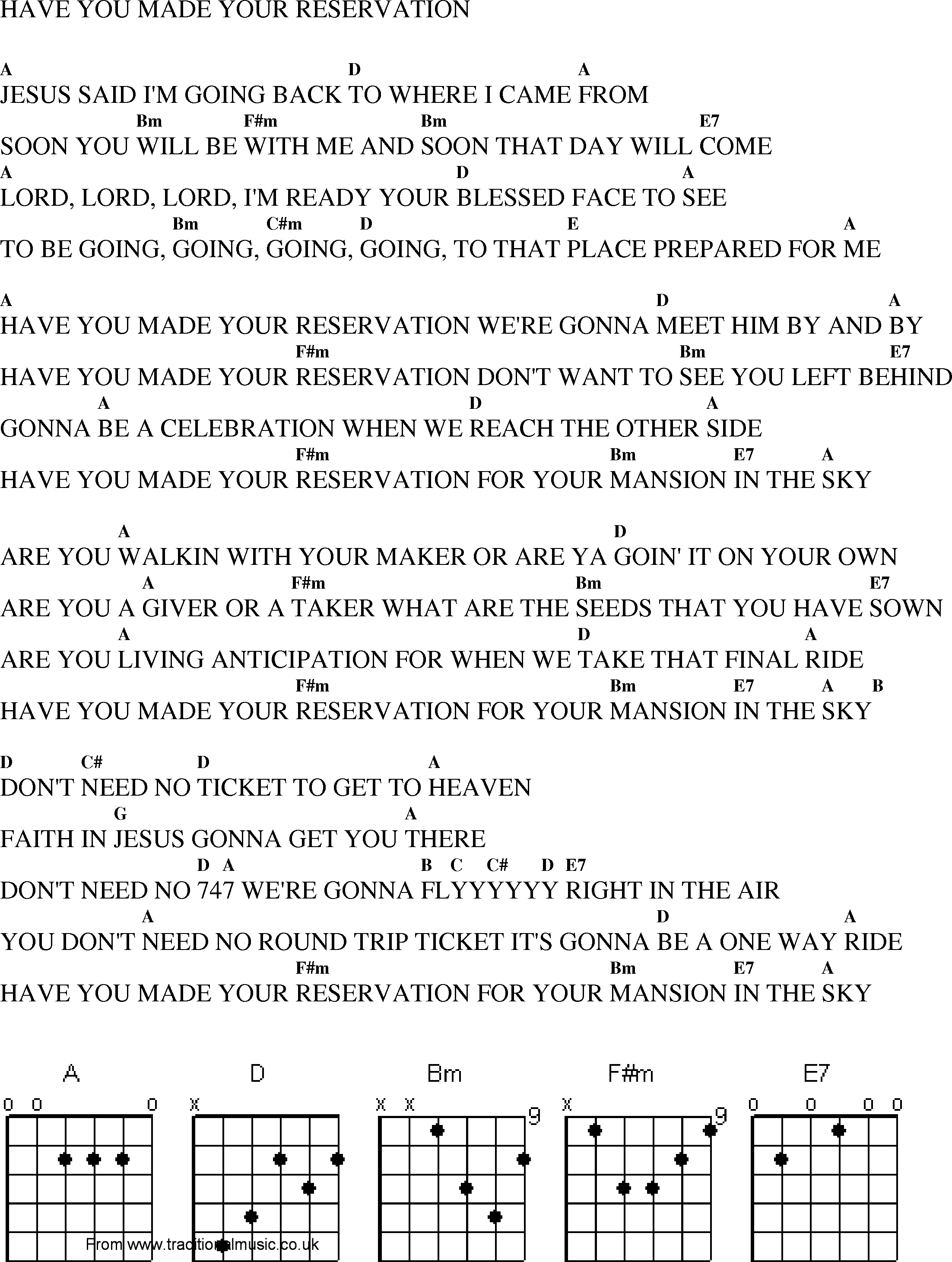 Christian Gospel Worship Song Lyrics With Chords Have You Made