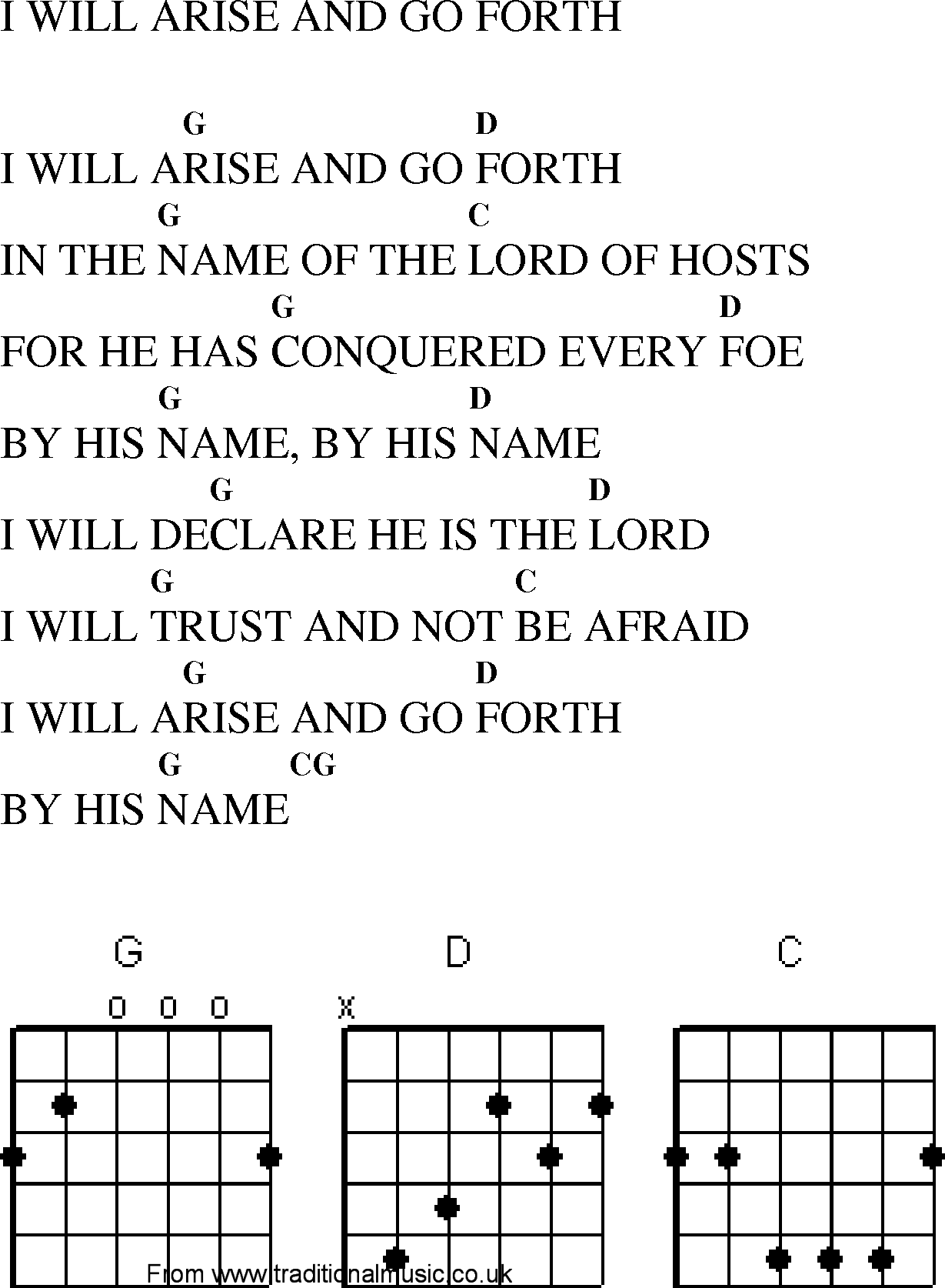 Gospel song i will trust in the lord