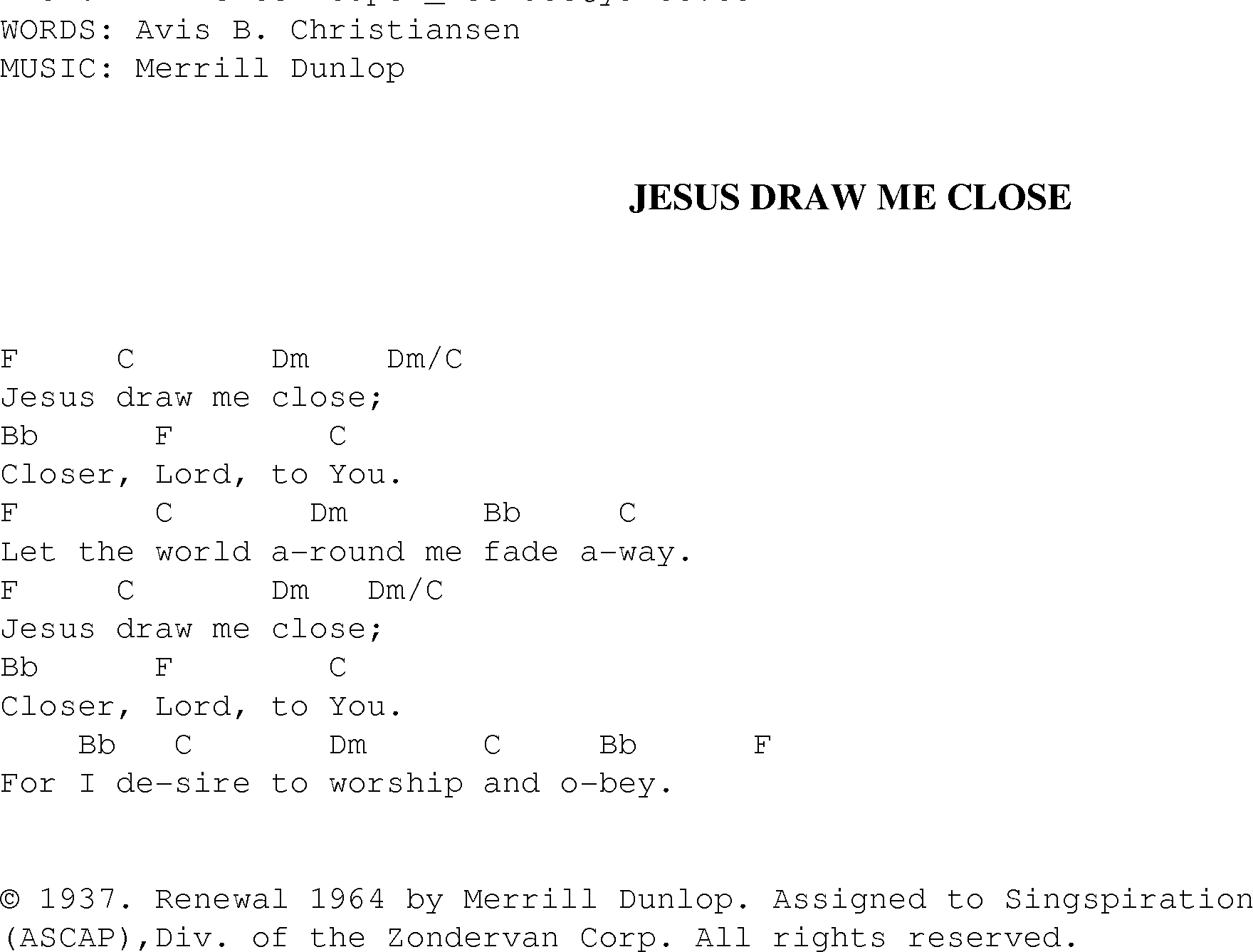 jesus love me chord and lyrics pdf