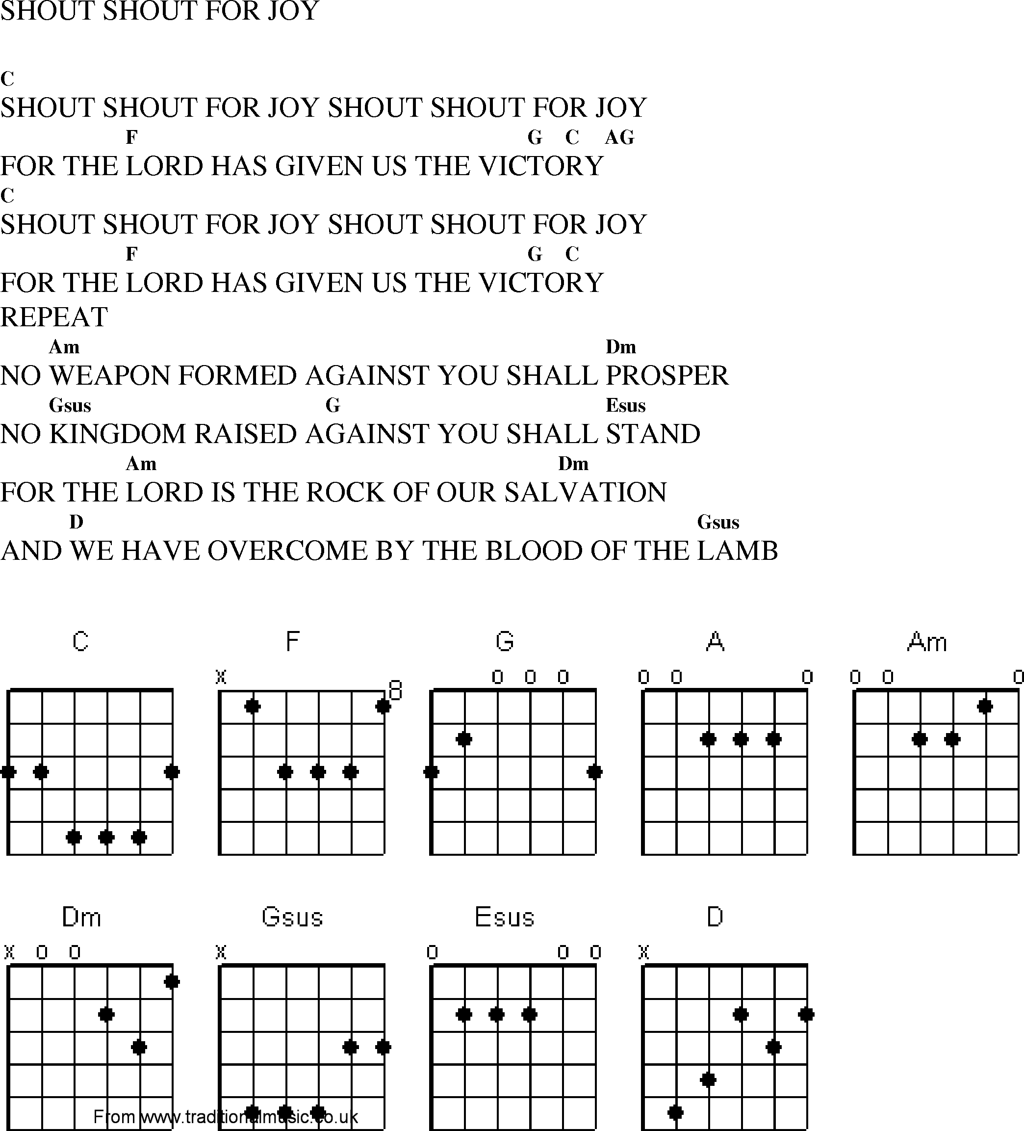Fantastic Shout To The Lord Chords Crest Beginner Guitar Piano