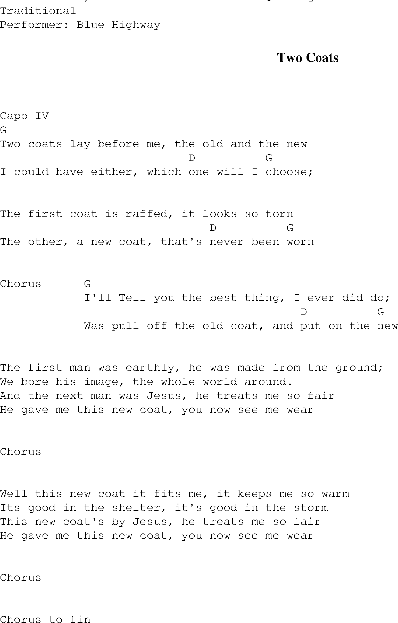 Two coats christian gospel song lyrics and chords gospel song twocoats lyrics and chords hexwebz Image collections