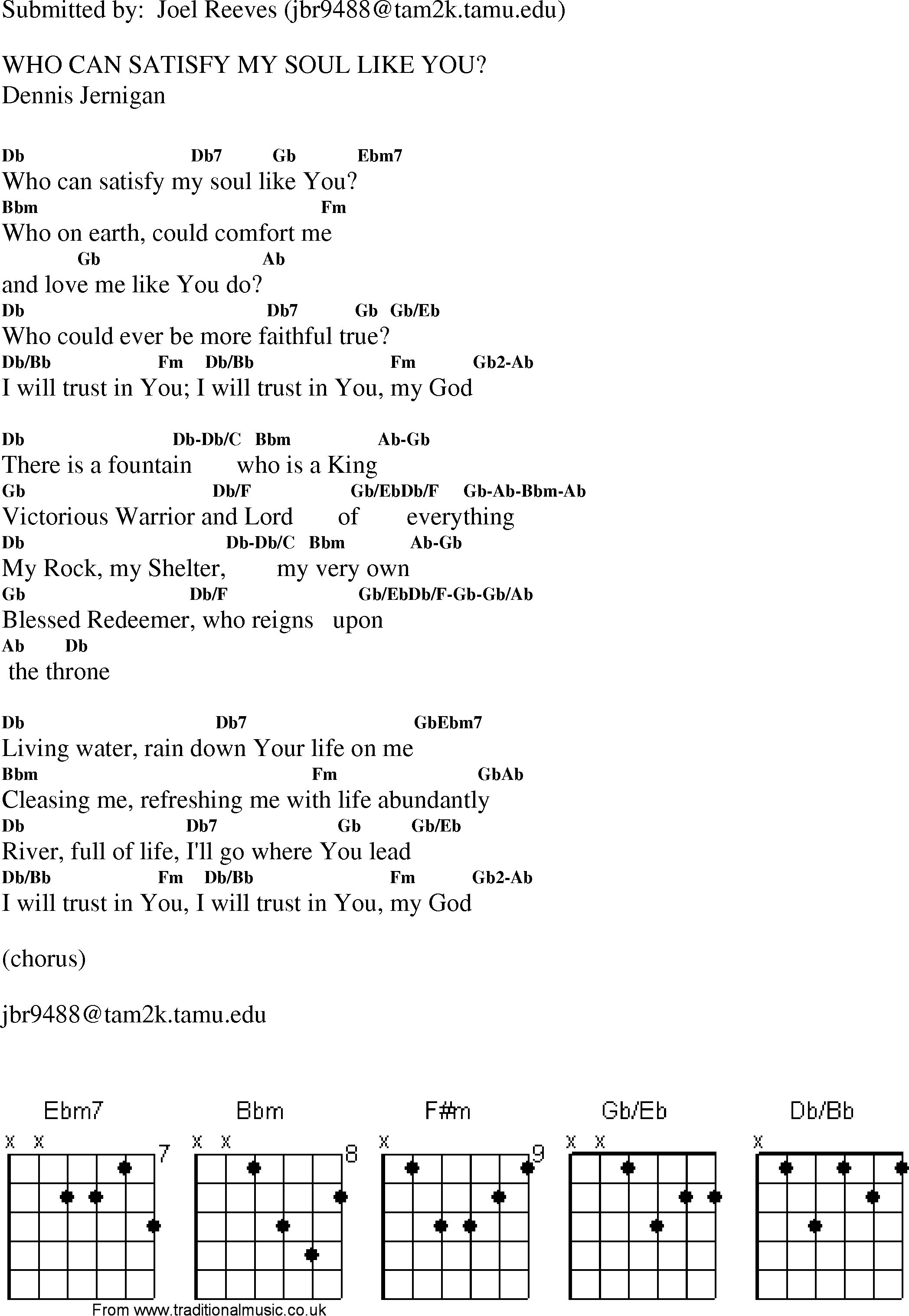 Christian gospel worship song lyrics with chords who can satisfy gospel song whocansatisfymysoullikeyou lyrics and chords hexwebz Choice Image