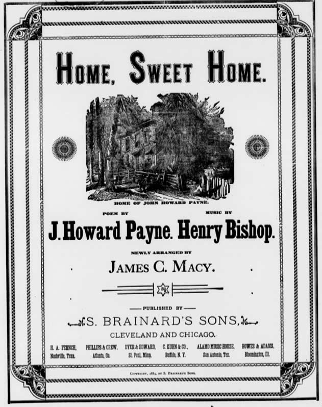 Home Sweet Home, Sheet Music Macy version, page 1