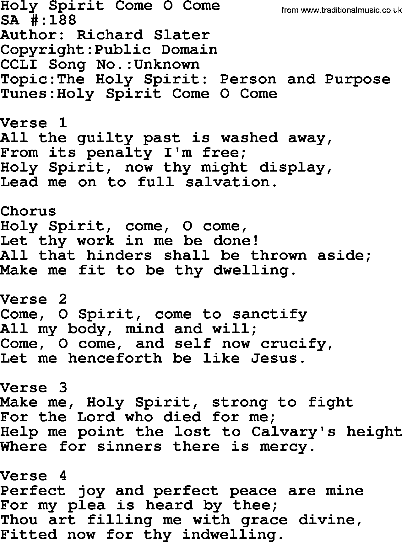 Come Holy Ghost Creator Blest-Score - YouTube