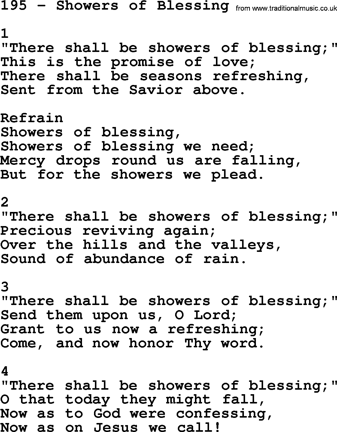 there shall be showers of blessing song free download