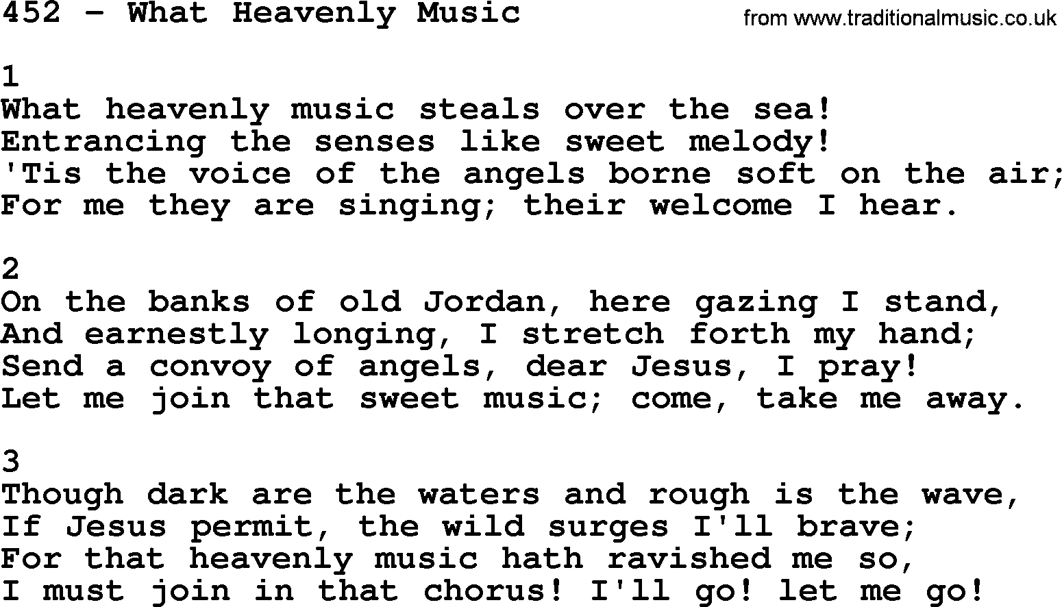 Adventist Hymnal, Song: 452-What Heavenly Music, with Lyrics, PPT